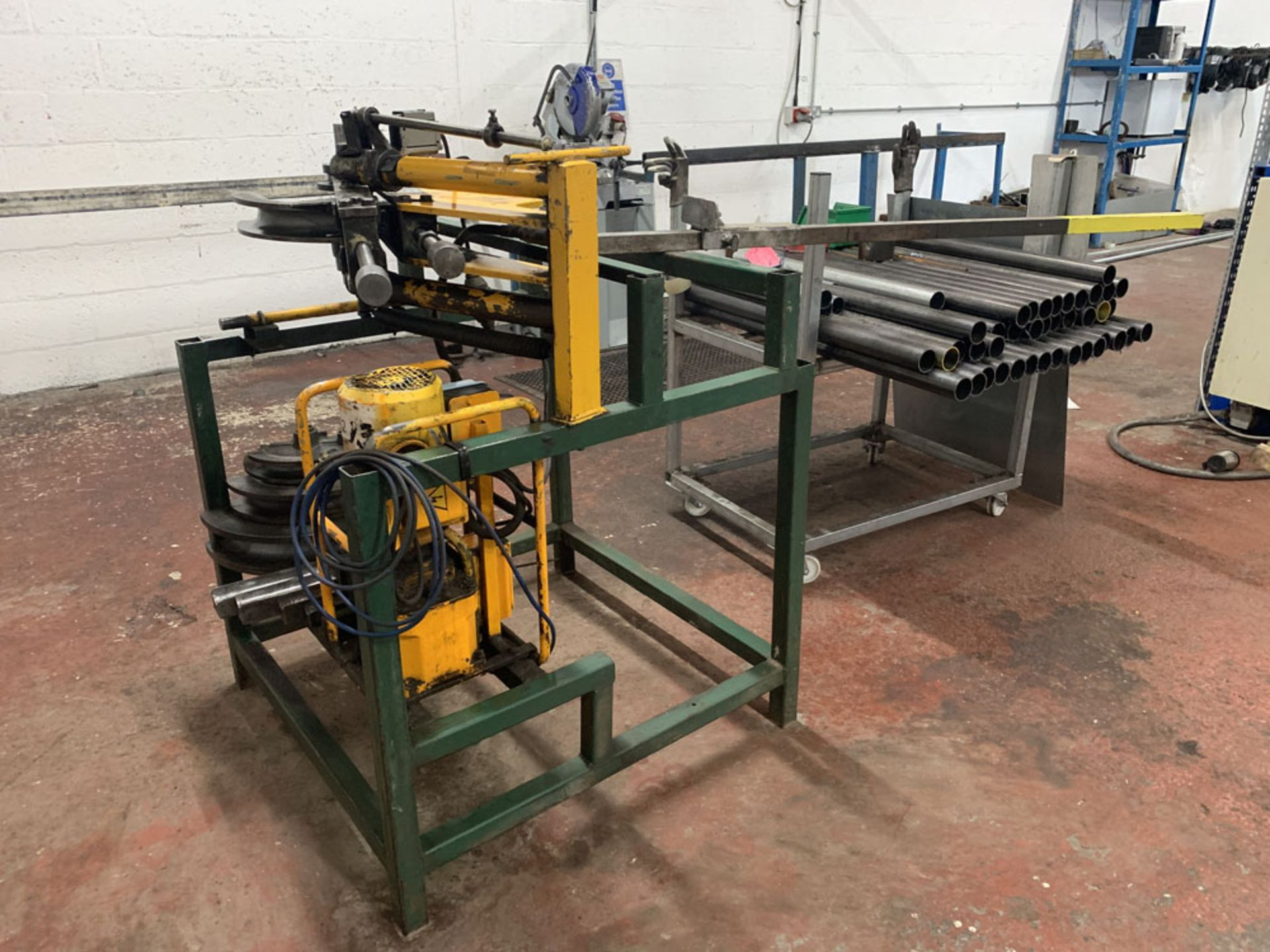 Lot 18 - APB (Anglia Power Bend Limited) Model RH3 Hydraulic tube bending machine. Capacity 60mm.