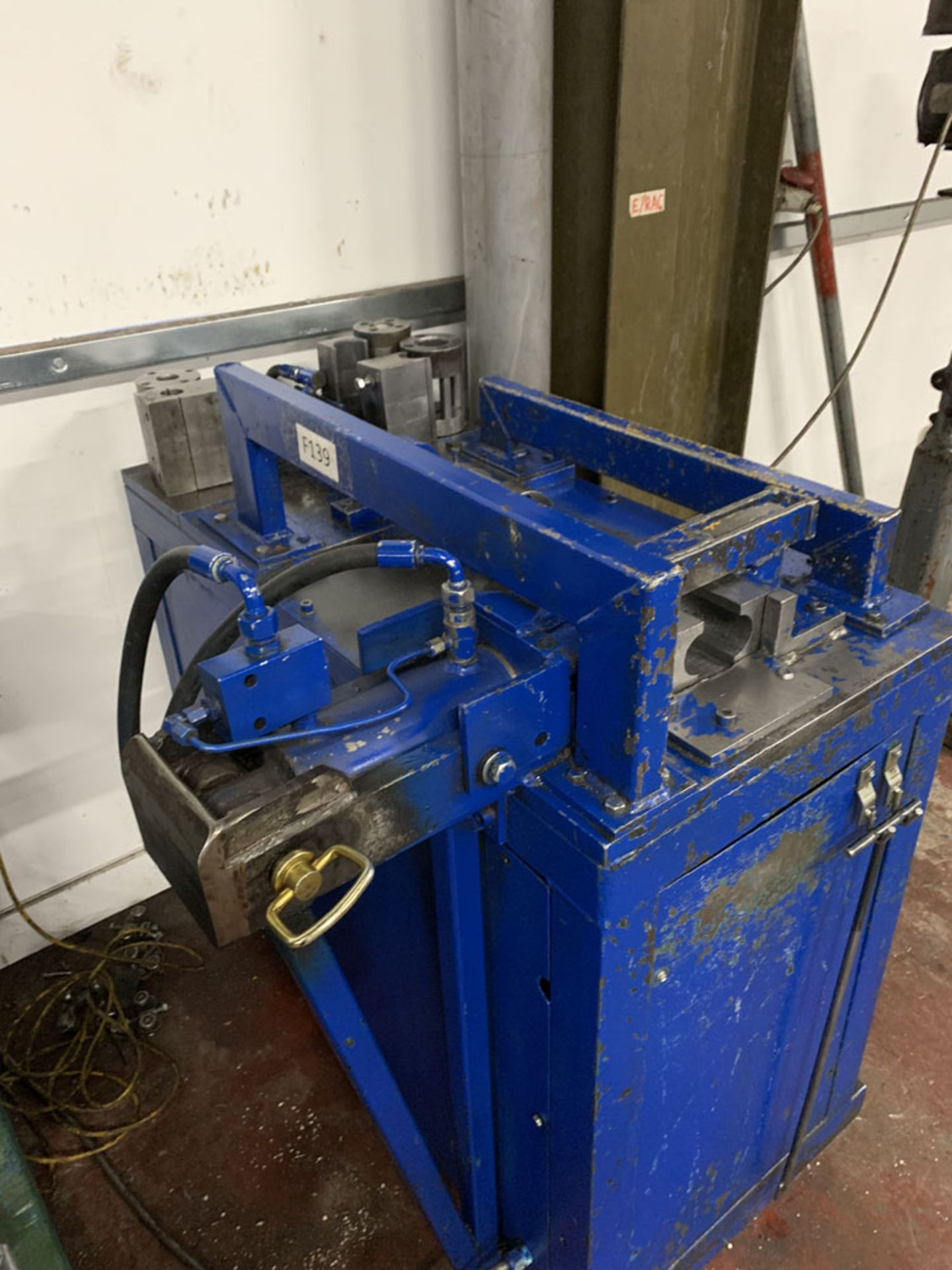 Lot 17 - Hydraulic Tube Crimping Machine. Various Sizes of Tooling.