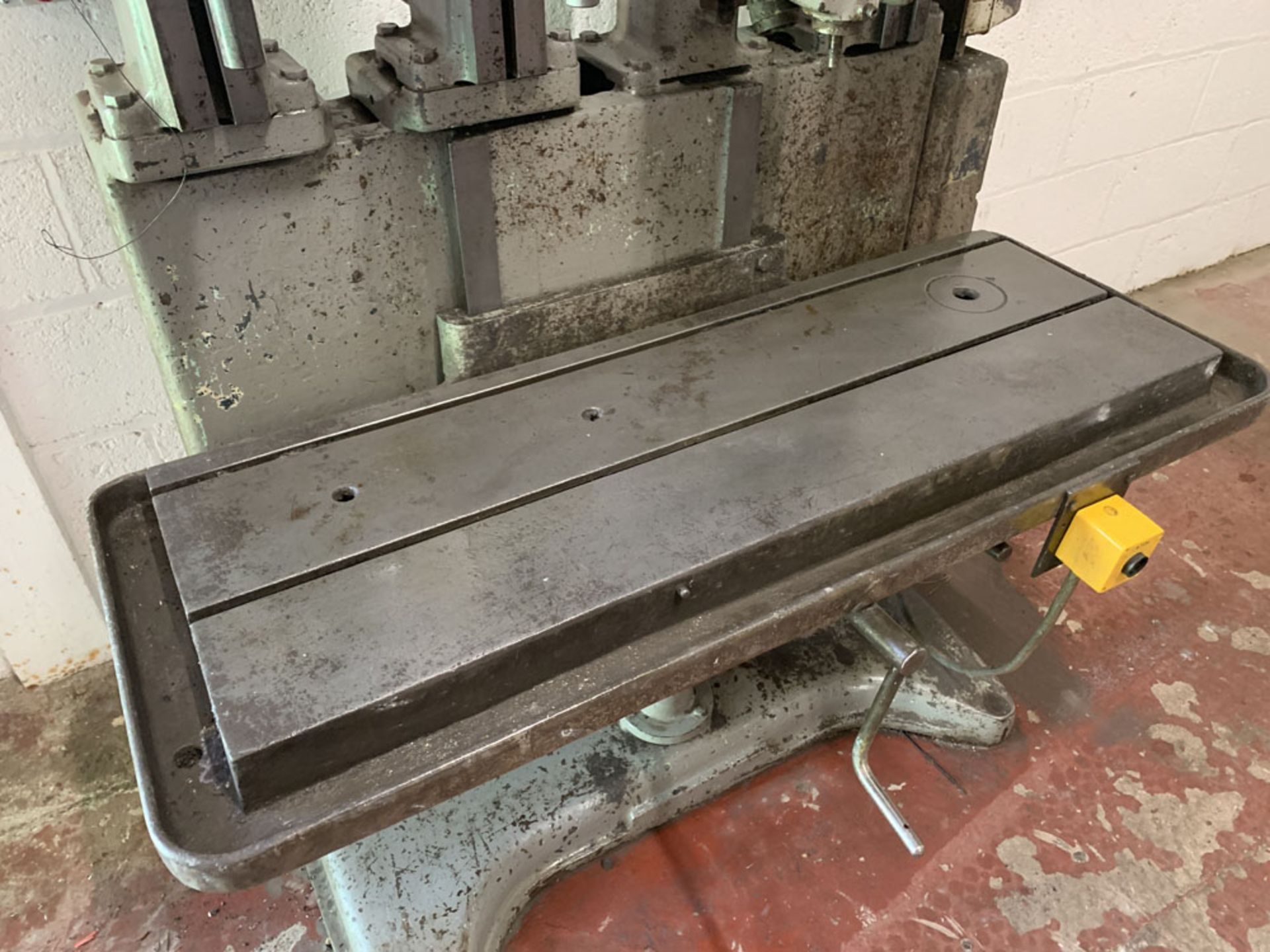 Lot 21 - Herbert 4 Spindle in Line Drill. Table Size 46'' x 15 1/2''.