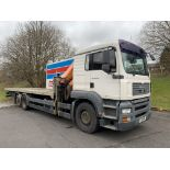 MAN TGA 26.310 Flatbed Lorry with Palfinger PK23002 Crane. 26,000KG Gross Weight.