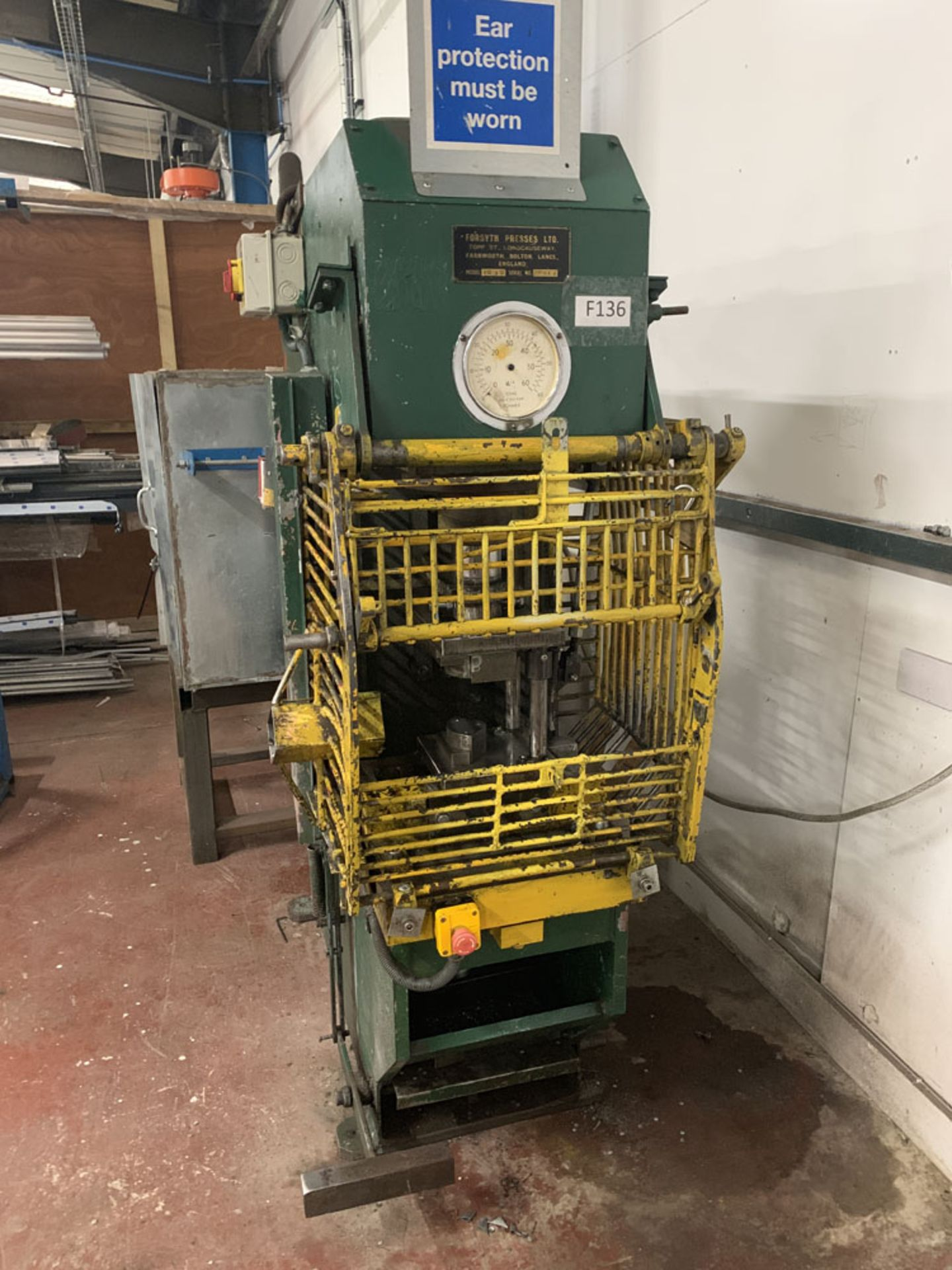 Lot 8 - Forsyth Model VO30 30 Ton Hydraulic Press.