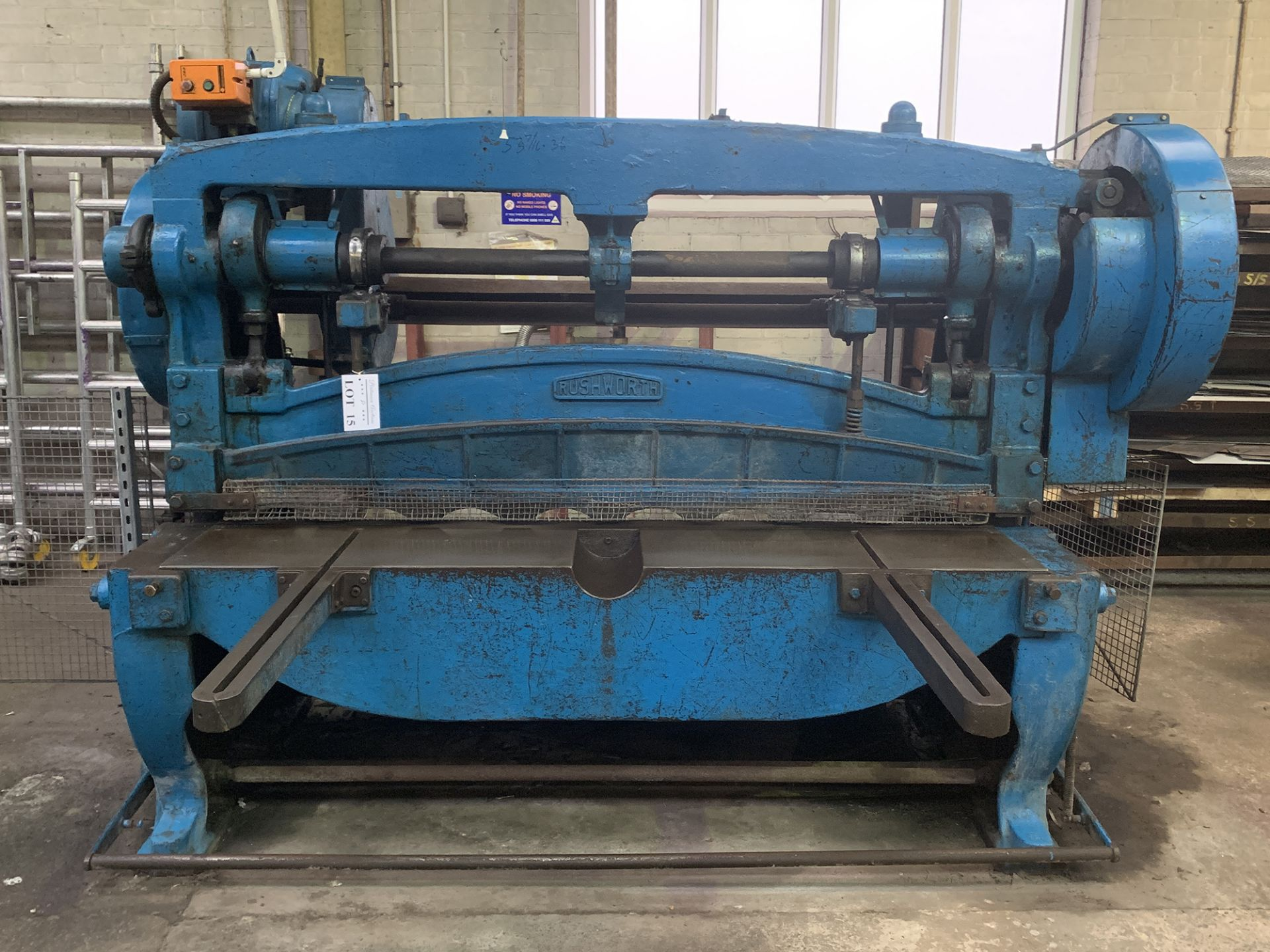"Lot 15 - Rushworth Power Guillotine. 68"" Cutting Length."