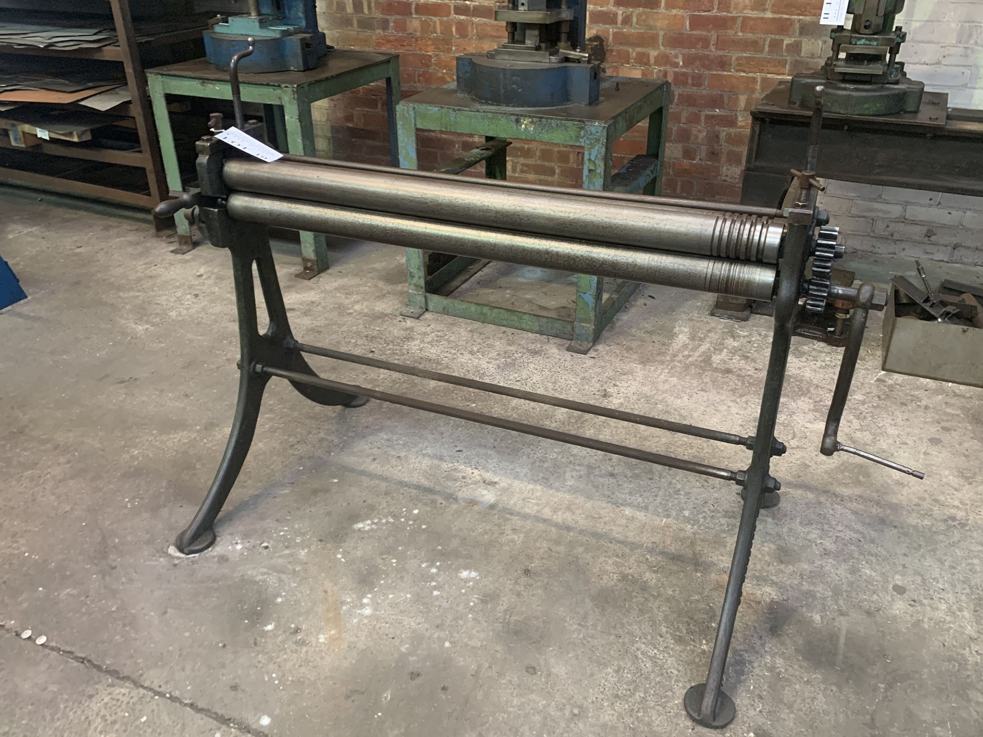 Lot 10 - FJ Edwards Initial Pinch Manual Bending Rolls. 48'' Capacity.
