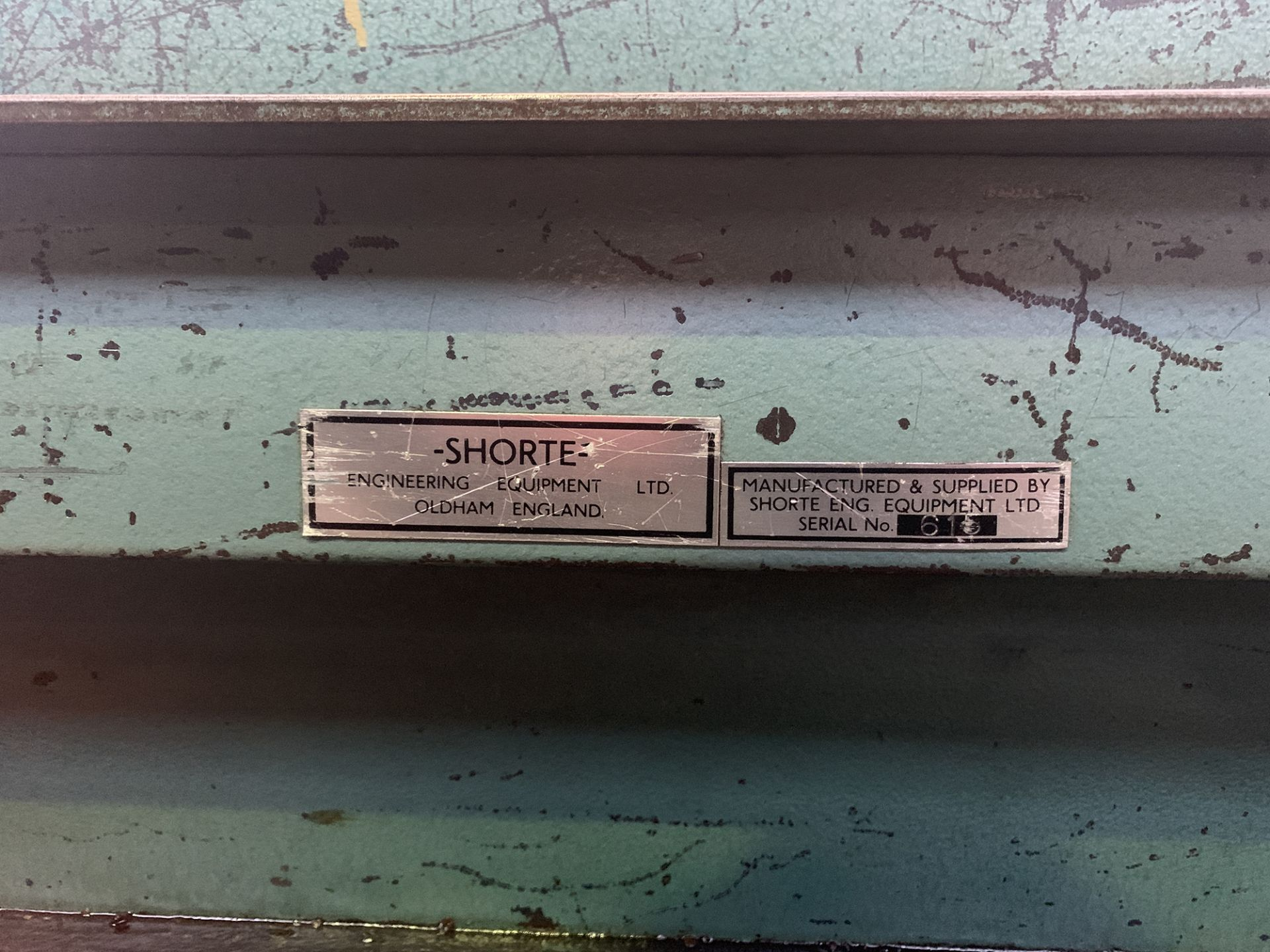 Lot 8 - Shorte Sheet Metal Lock Former.