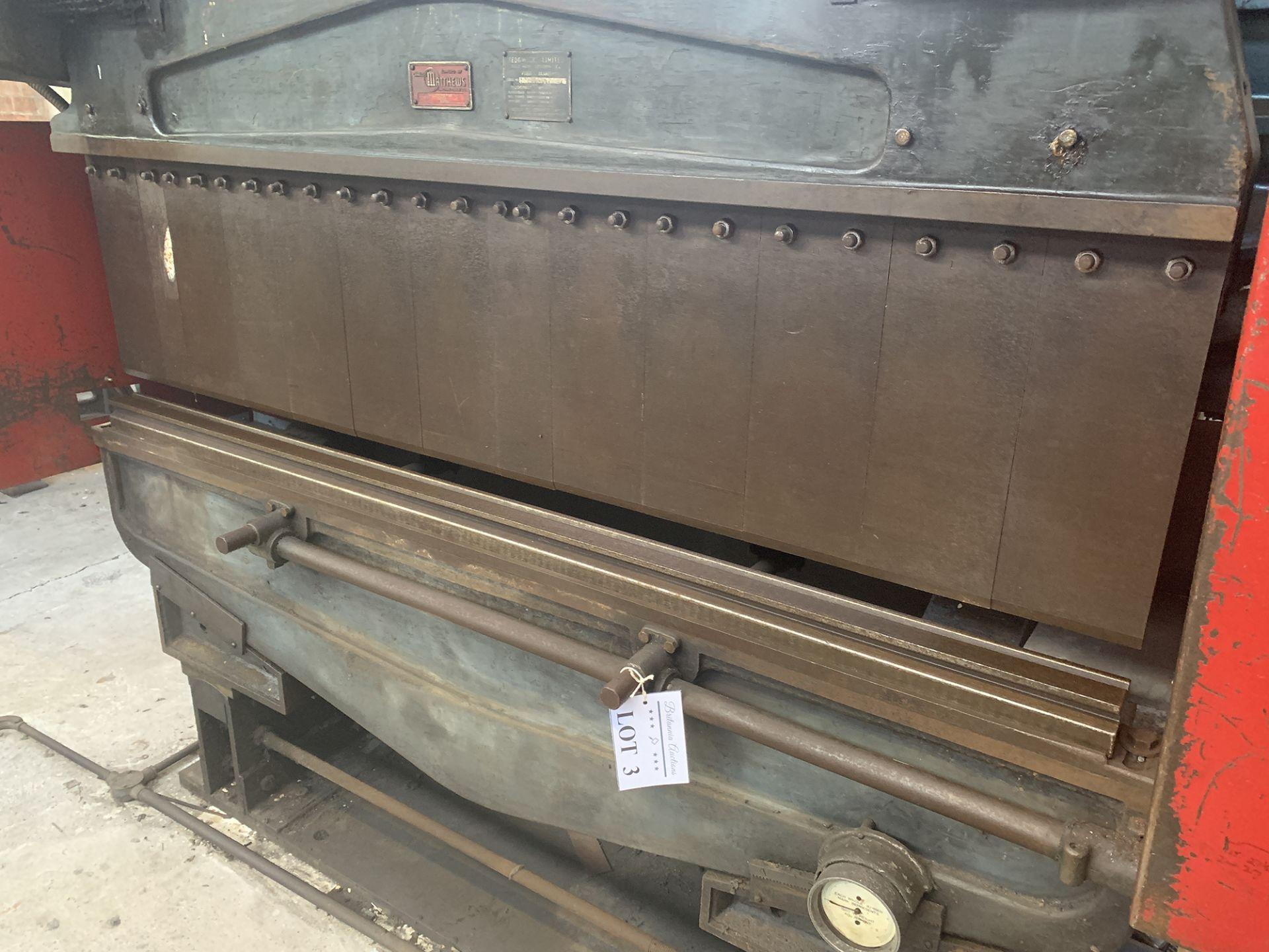 Lot 3 - Sedwick Press Brake. 72'' Blade Length.