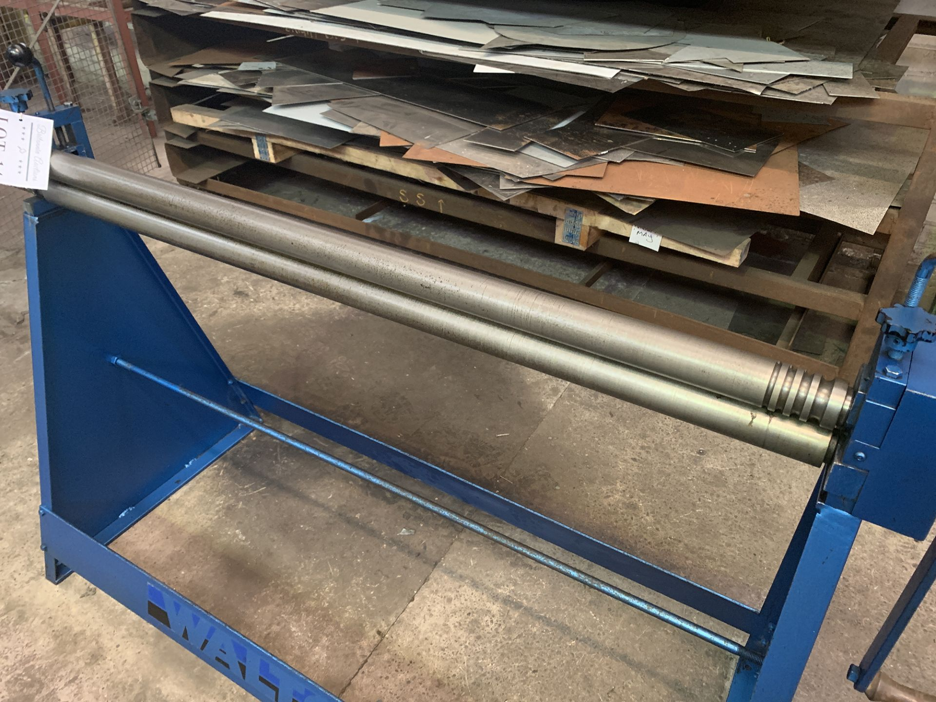 "Lot 14 - Waltons Initial Pinch Manual Bending Rolls. Capacity 50"" x 2'' Diameter Roll."