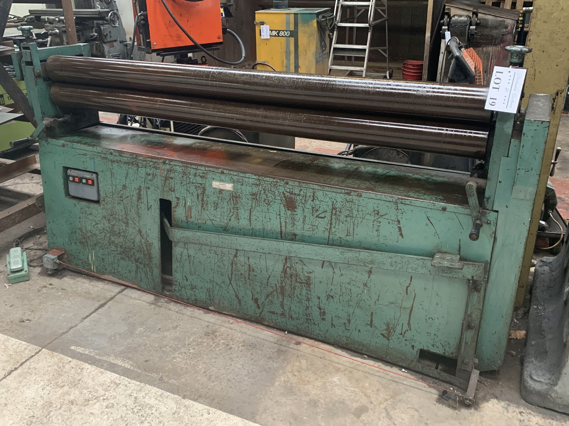 Lot 19 - Shorte Initial Pinch Powered Rolls. Capacity 80'' Length x 5'' Roll Diameter.