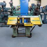 Qualters & Smith Model 180 Sawmaster Horizontal Bandsaw. Capacity Approx 180mm.