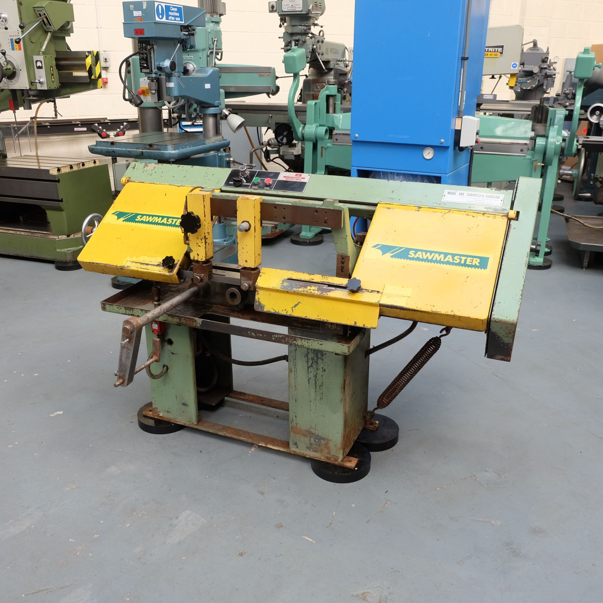 Qualters & Smith Model 180 Sawmaster Horizontal Bandsaw. Capacity Approx 180mm. - Image 2 of 5