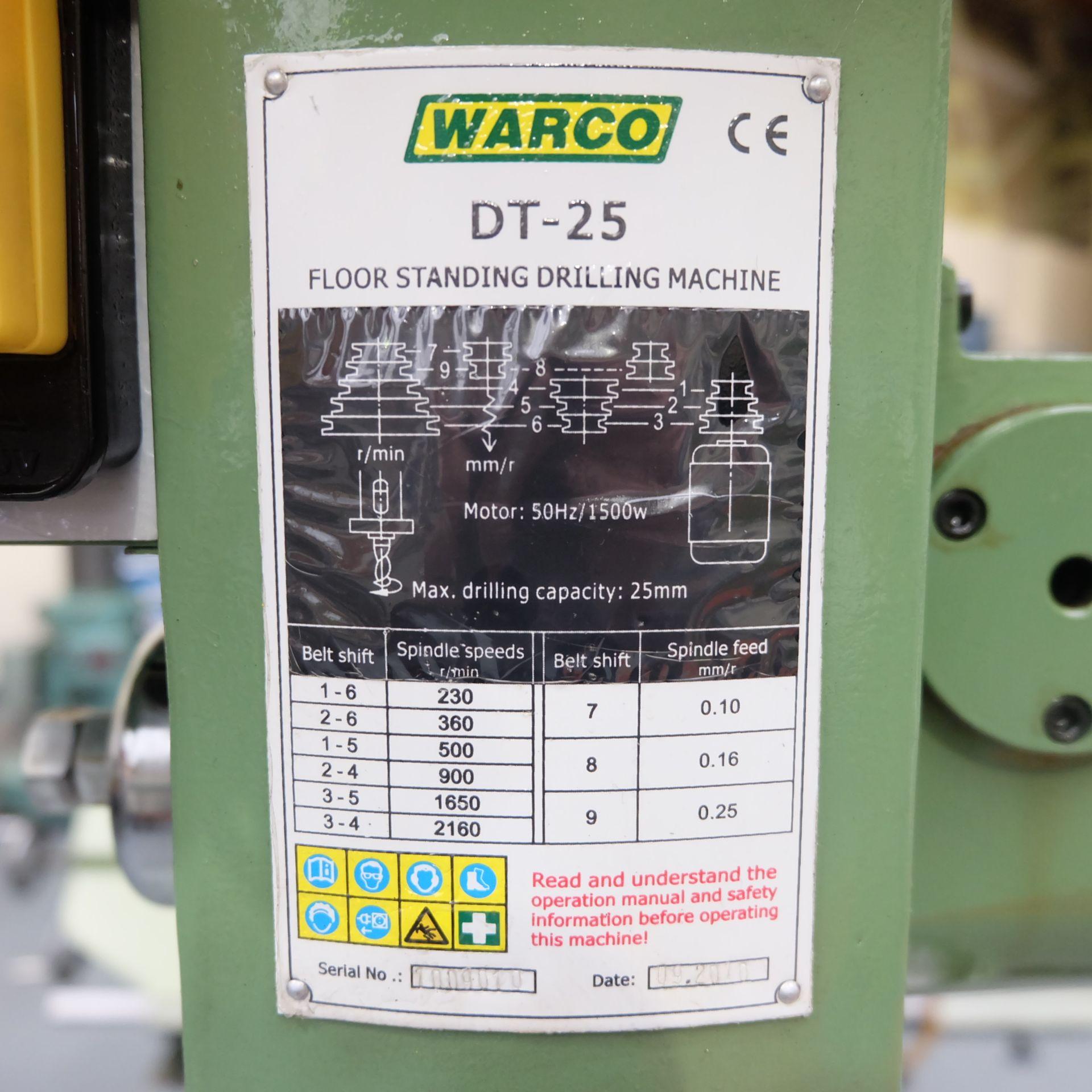 Warco Model DT-25: Floor Standing Pillar Drill. - Image 4 of 8