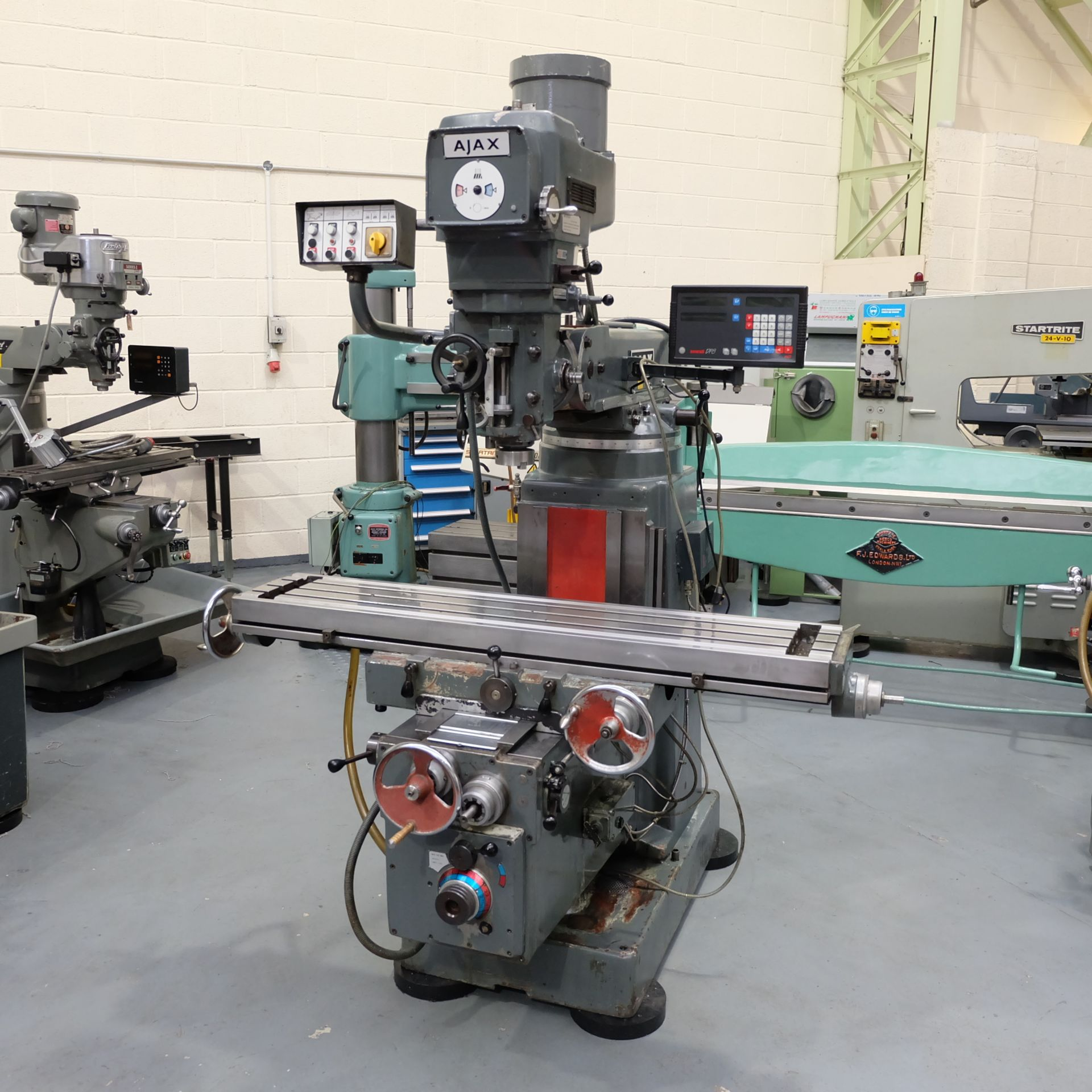 Lot 23 - Ajax Model AJT4 Turret Milling Machine.