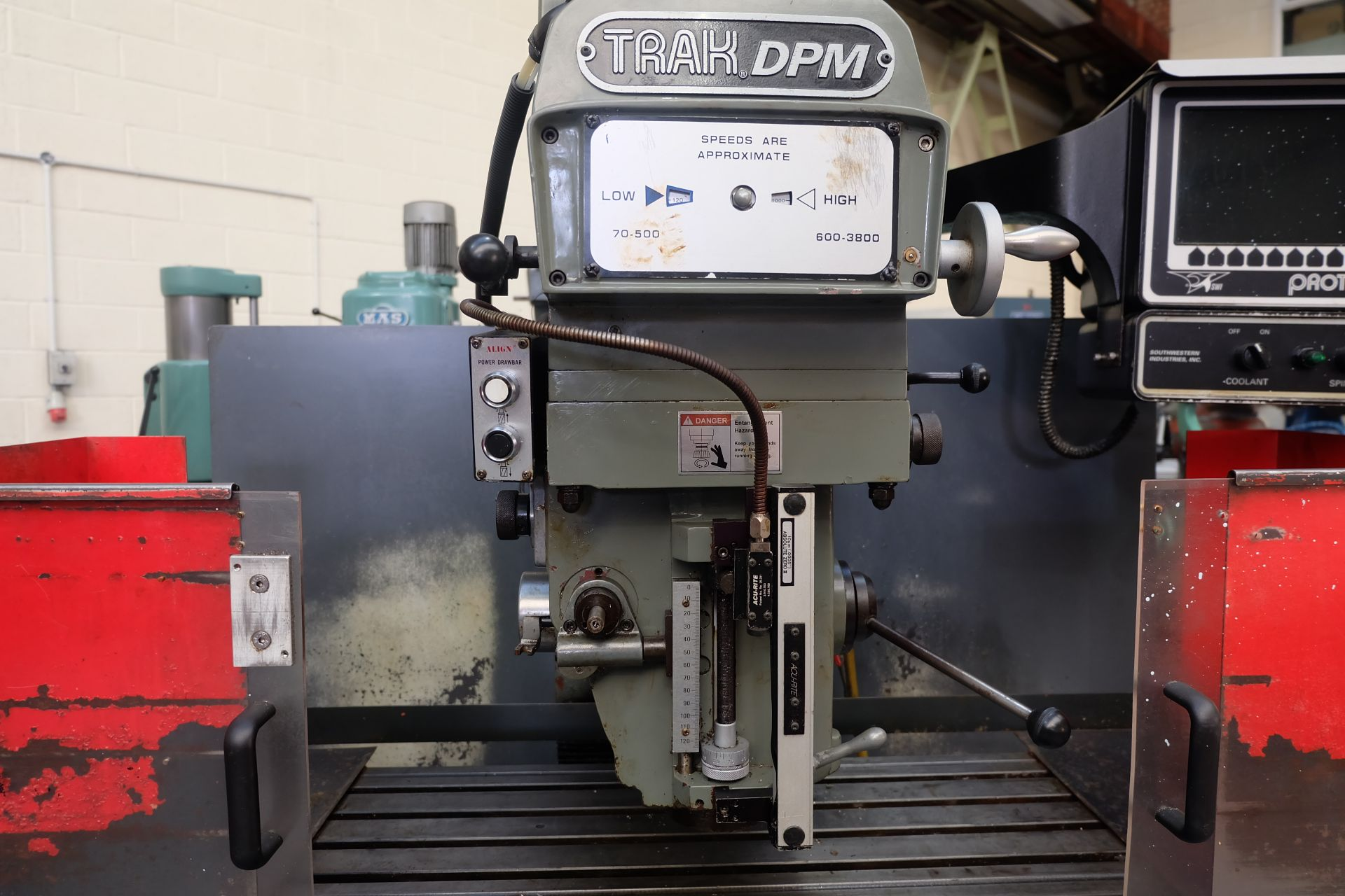 "Lot 18 - 2 x XYZ Type DPM Milling Machines Table 42"" x 12 1/2"". Prototrak MX3 Control. For Spares or Repair."