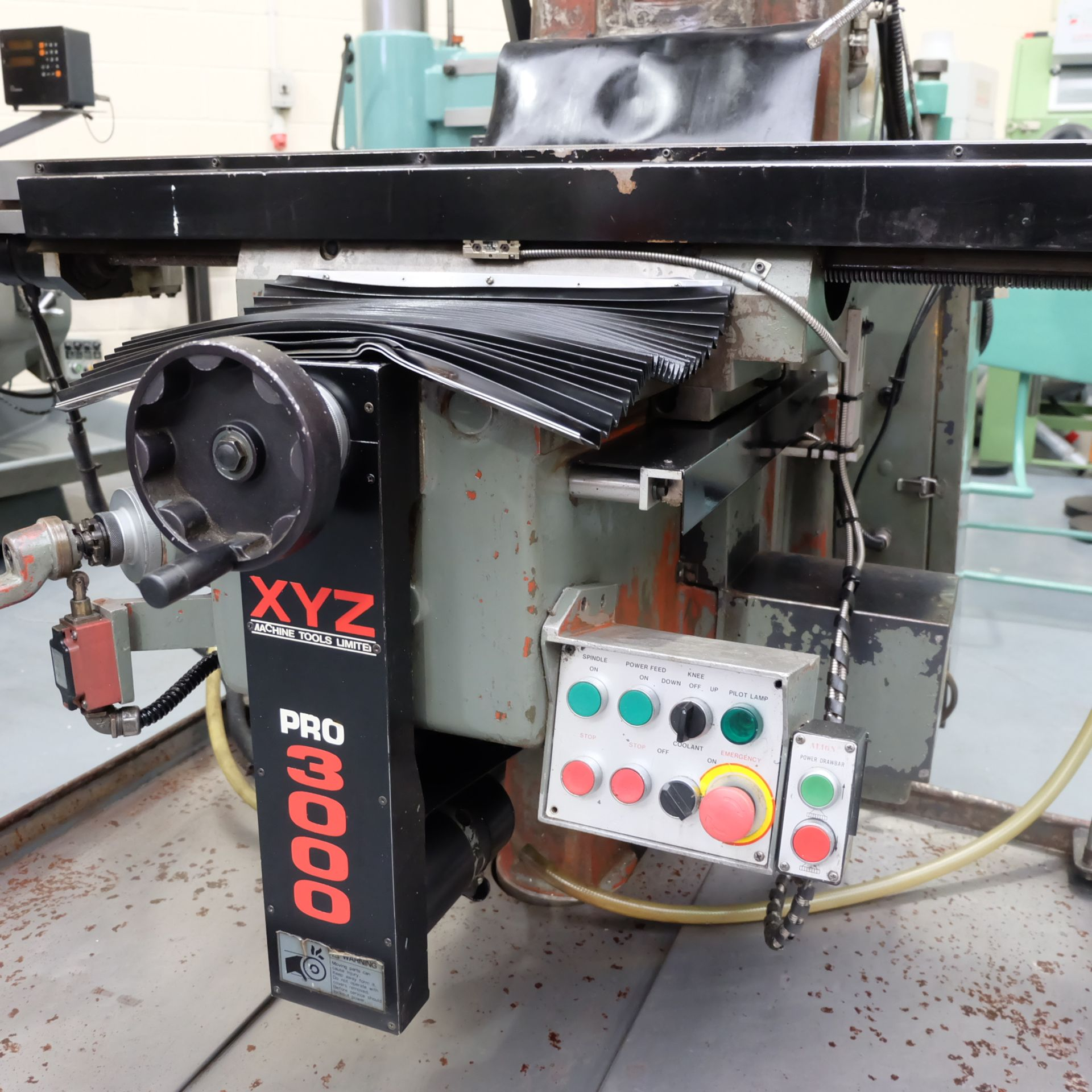 Lot 19 - XYZ Pro3000: Turret Mill. With Prototrak MX2 Two Axis Programmable Control.