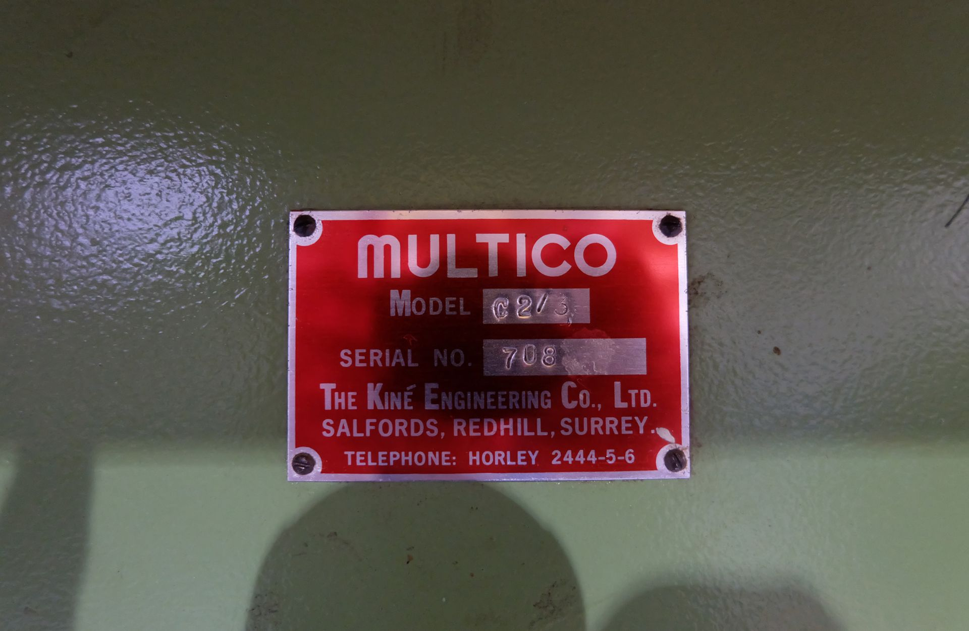 Multico Model C2/3 Radial Wood Saw. Swivelling/Tilting Cross Cut Timber Sawing Machine. - Image 5 of 5
