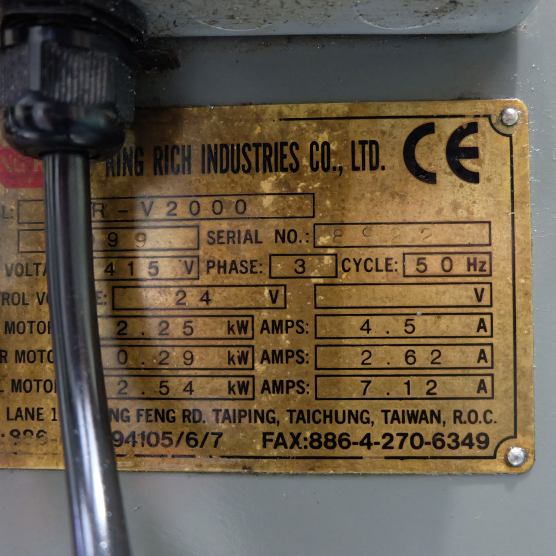KRV Pro 2000: Turret Milling Machine. - Image 11 of 11