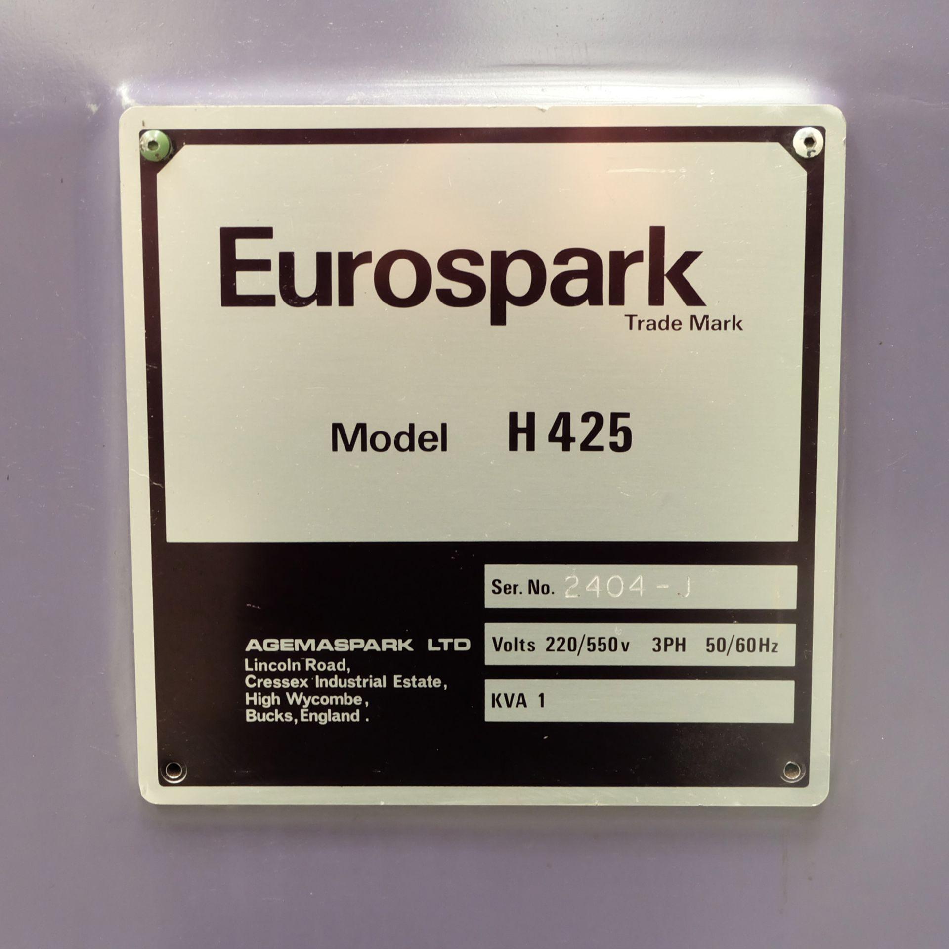 Eurospark Model H425 Solid Sink EDM. Table 420mm x 300mm.Generator Eurospark AP10 mk11. - Image 8 of 17