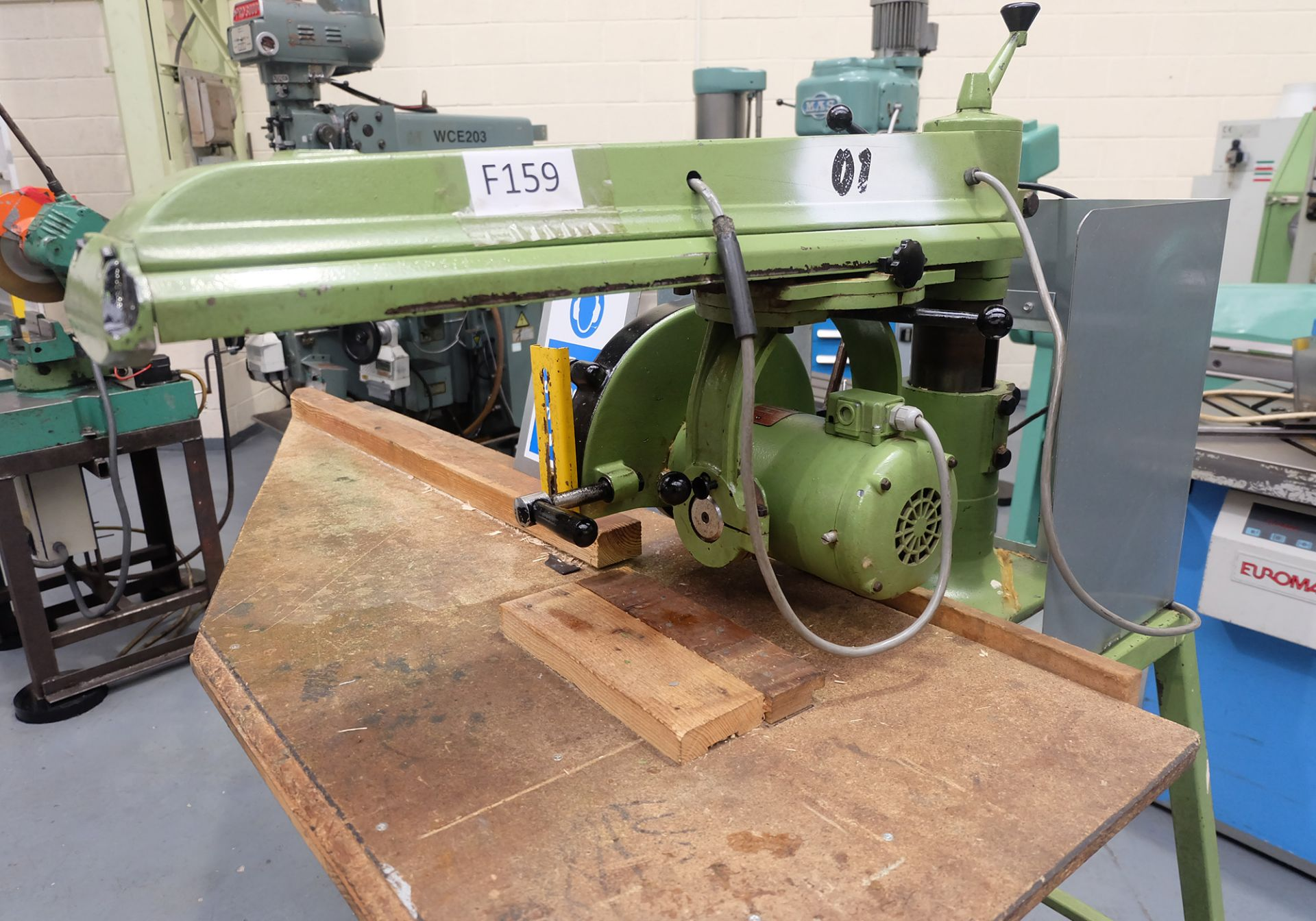 Multico Model C2/3 Radial Wood Saw. Swivelling/Tilting Cross Cut Timber Sawing Machine. - Image 2 of 5