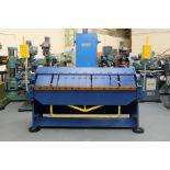 """Morgan Rushworth Box & Pan Folding Machine. Capacity 80"""" x 14swg."""