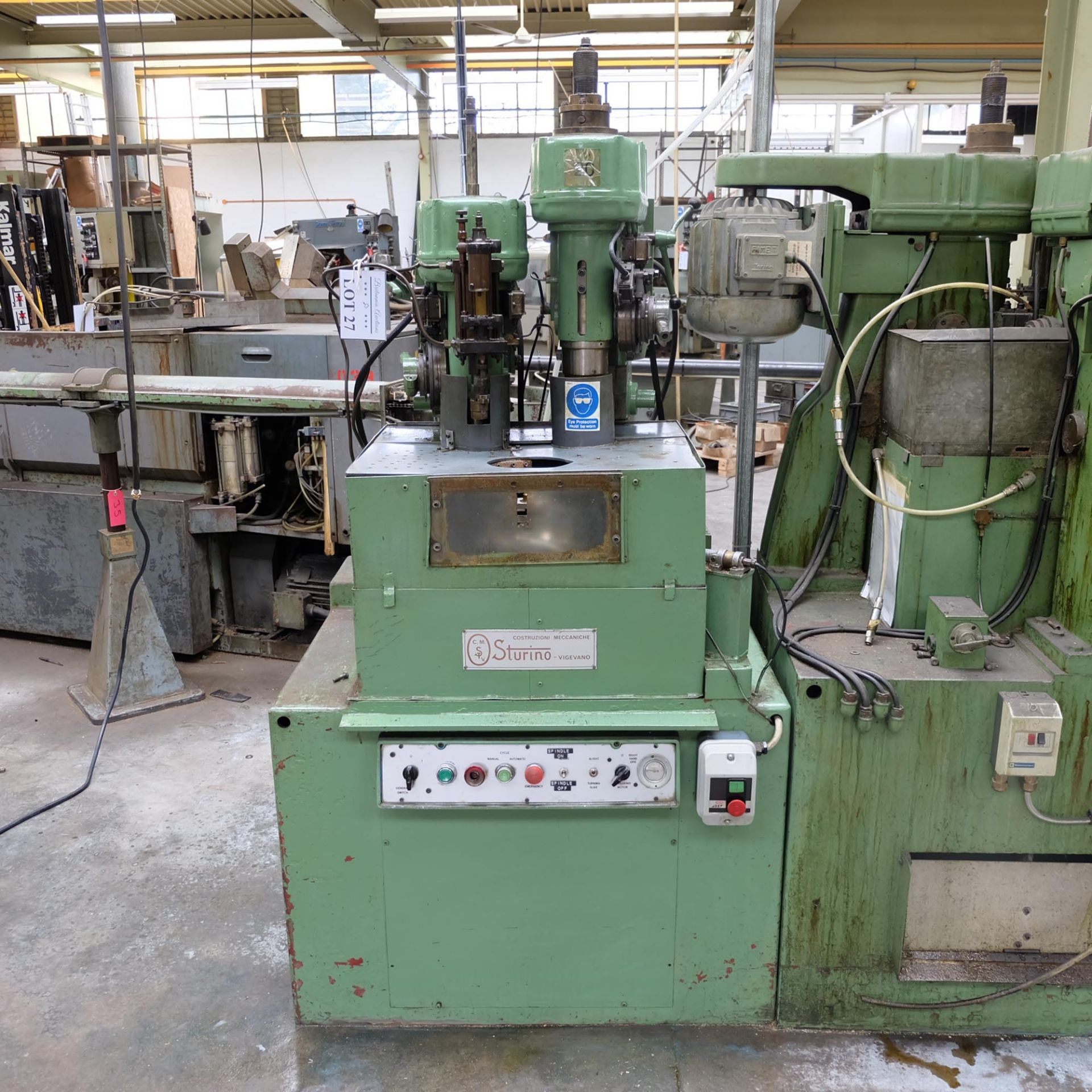 Sturino Model ST-66 Two Spindle Automatic Rotary Transfer Machine. Spindle Taper 30 Int.