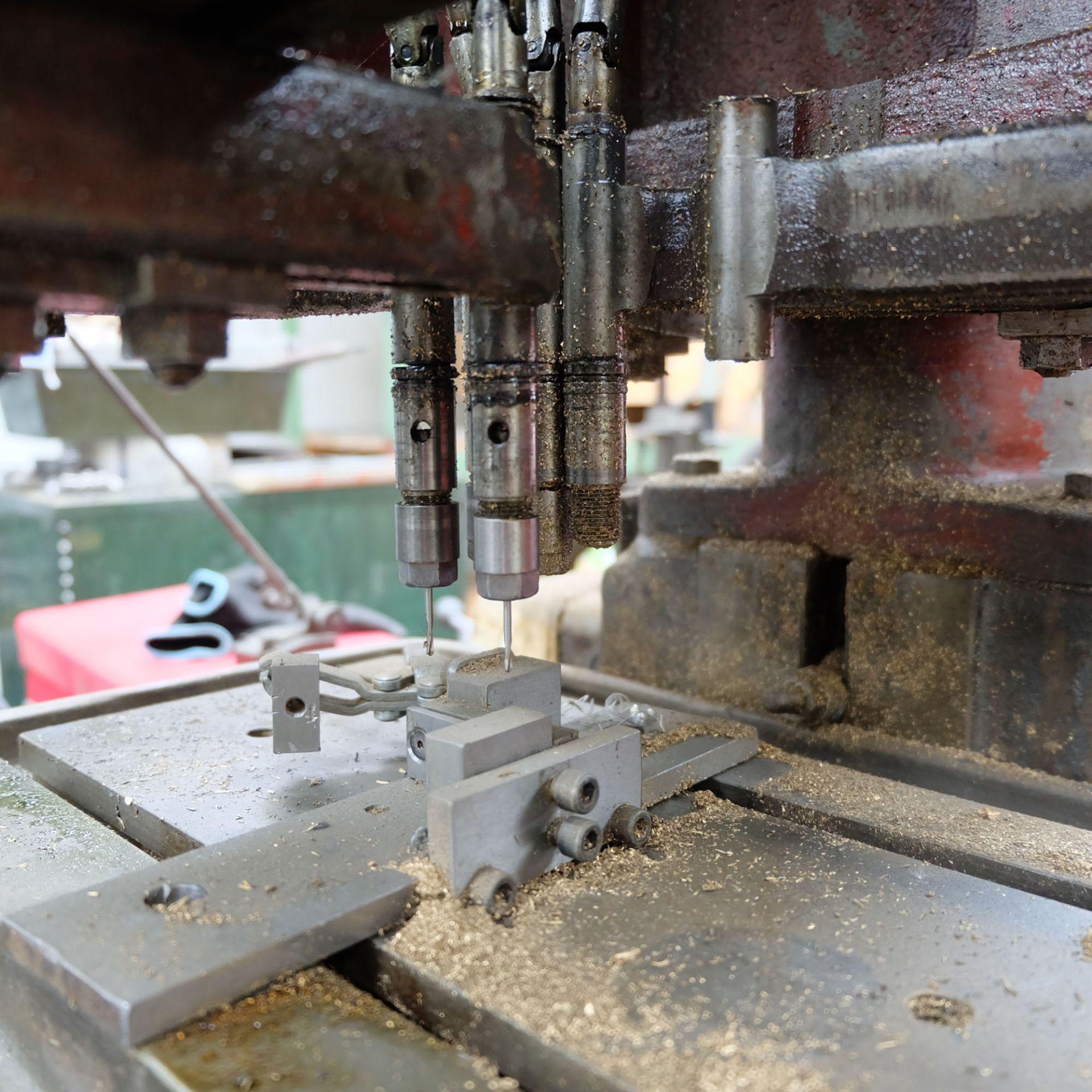 "Pollard Corona Model 12MXT Multi Spindle Head Drill. Table Size 14"" x 8 1/2"". - Image 5 of 7"