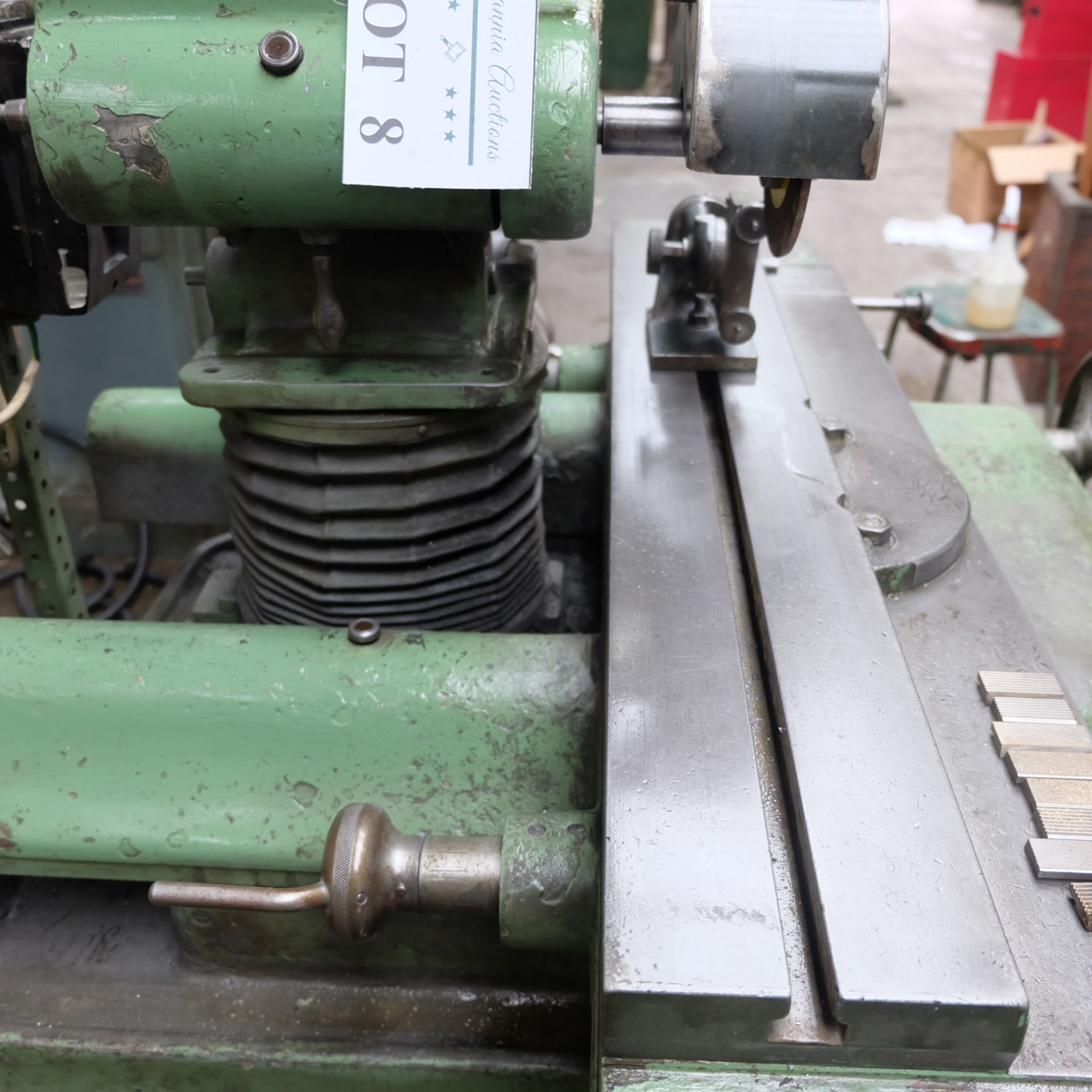 Jotes Model NVA-25 Tool and Cutter Grinder. Rise and Fall and Tilt and Swivel Head. - Image 5 of 6