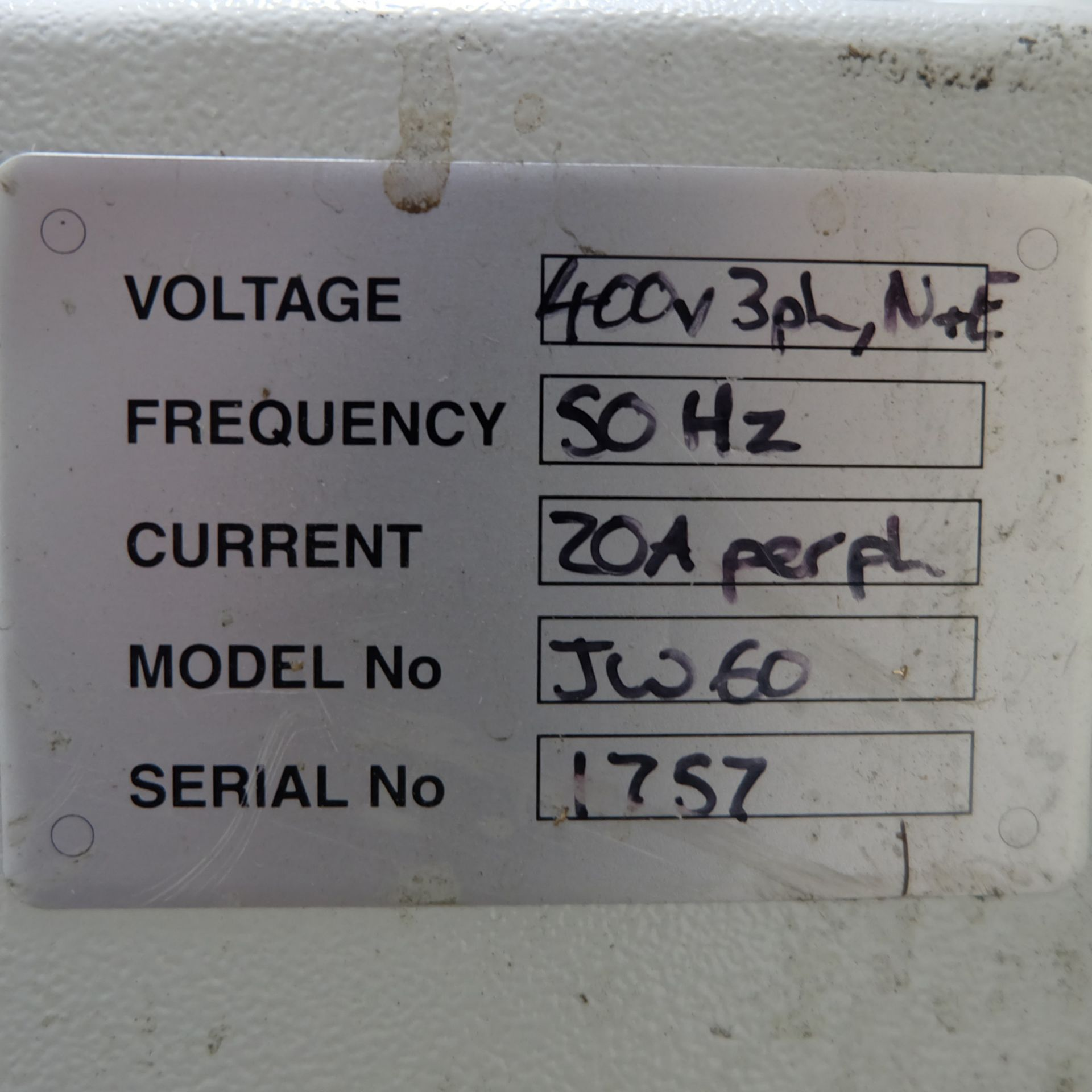 Vixen Jetwash Model JW60 Automatic Hot Wash Rotary Spray Machine. Bowl Size 600mm x 260mm. - Image 8 of 8