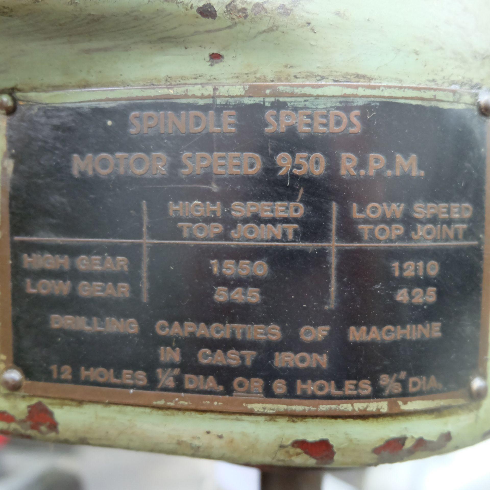 "Pollard Corona Model 12MXT Multi Spindle Head Drill. Table Size 14"" x 8 1/2"". - Image 7 of 7"