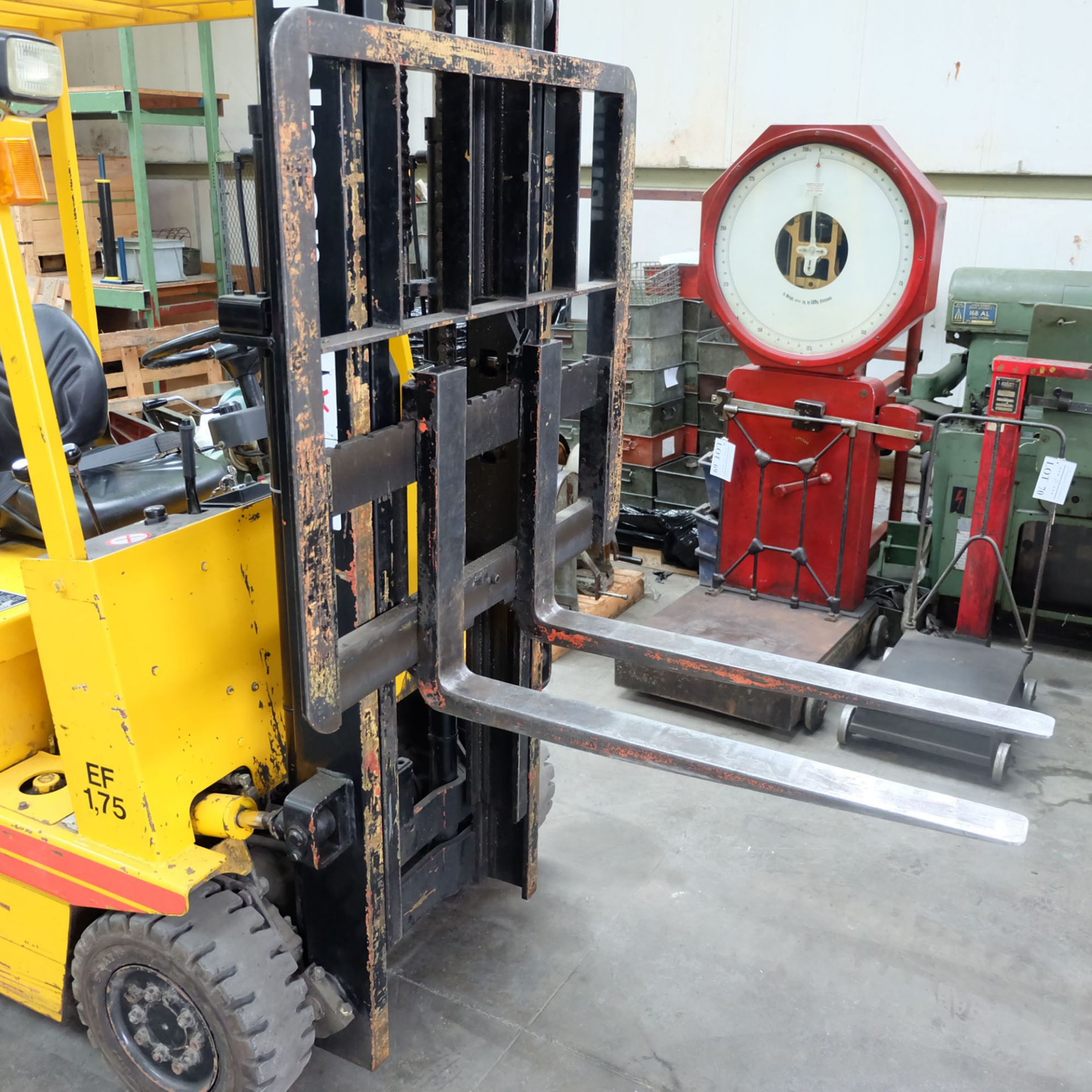 Kalmar Model EF 1.75. Electric Fork Lift Truck With Battery Charger - Image 5 of 10