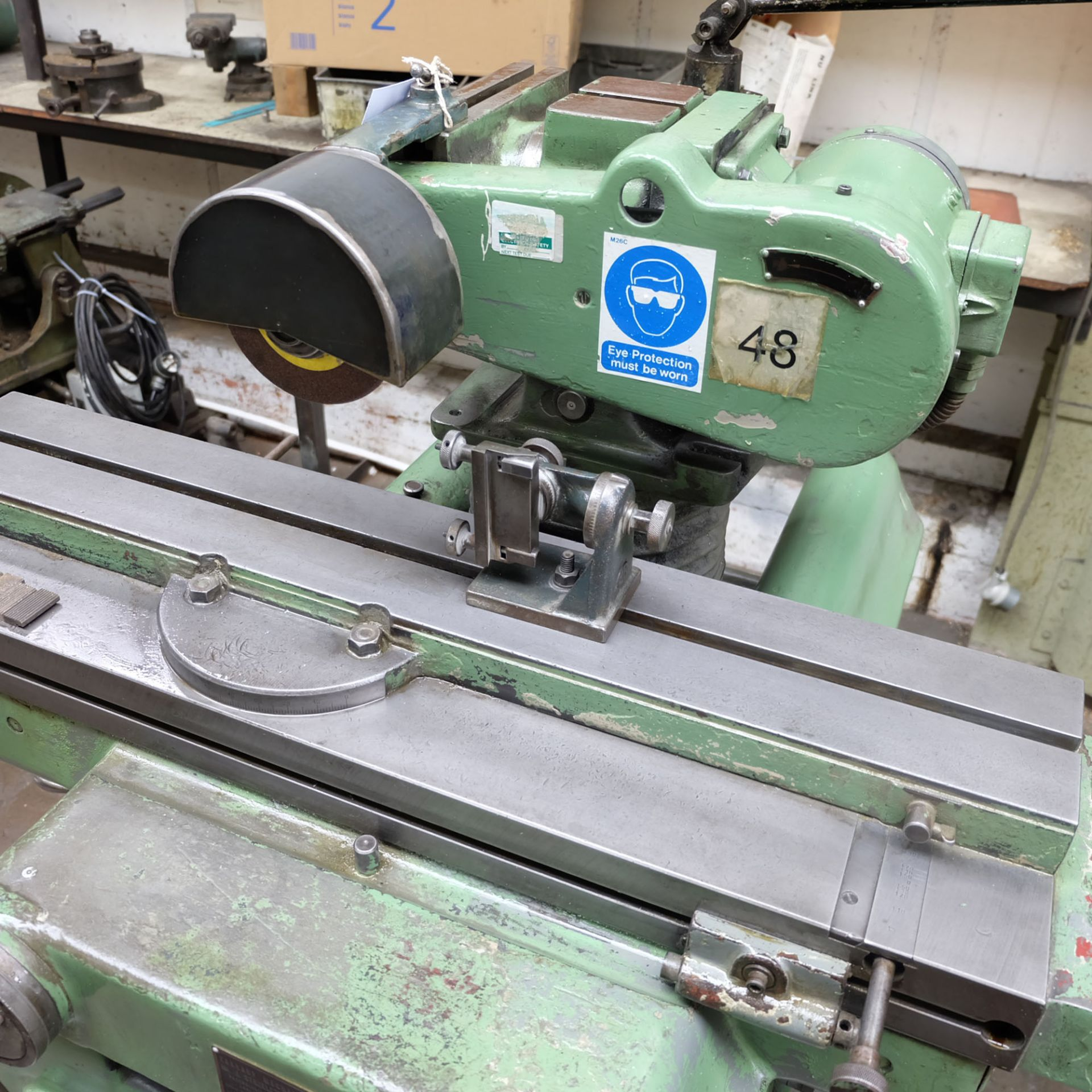 Jotes Model NVA-25 Tool and Cutter Grinder. Rise and Fall and Tilt and Swivel Head. - Image 3 of 6