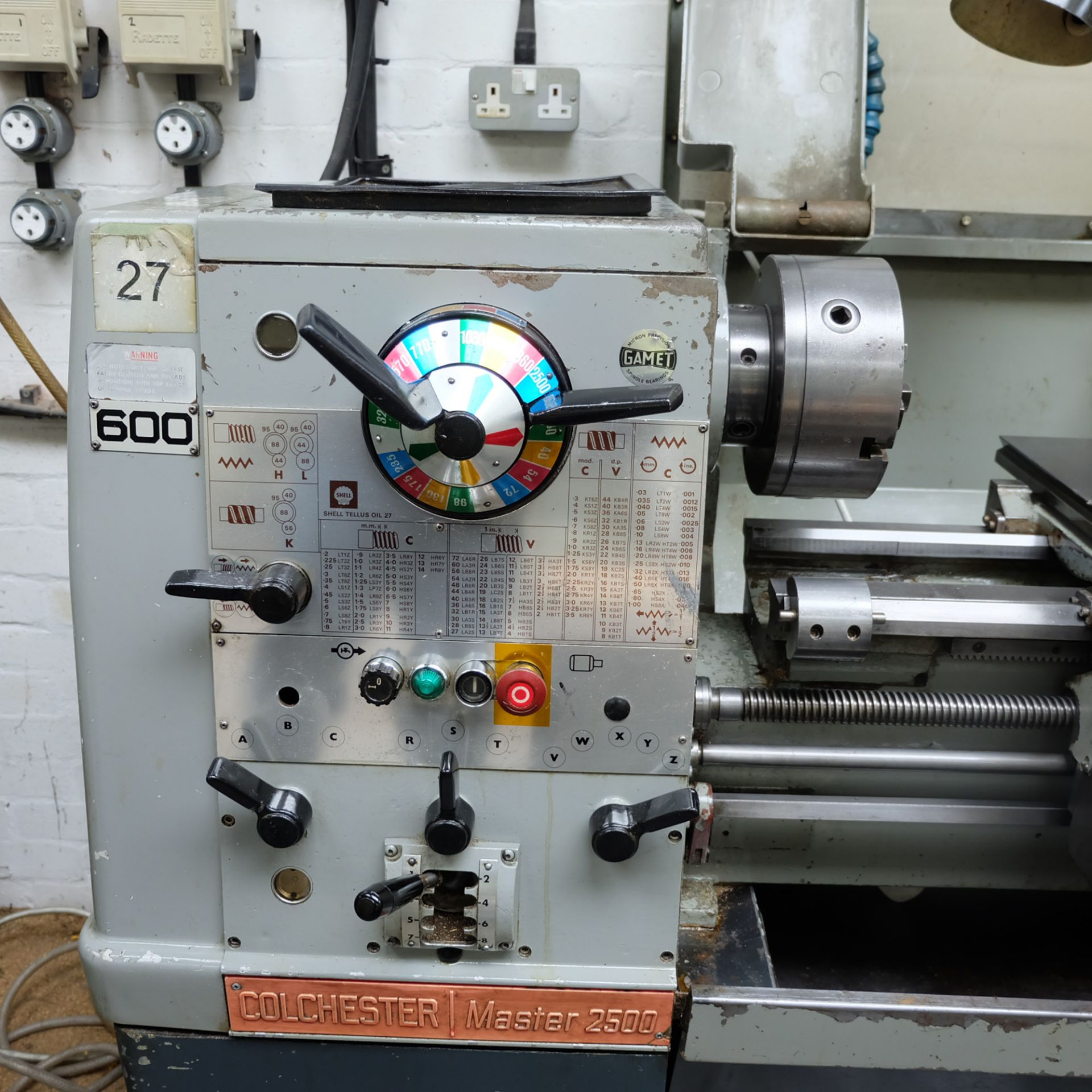 Colchester Master 2500 Gap Bed Centre Lathe. - Image 3 of 10