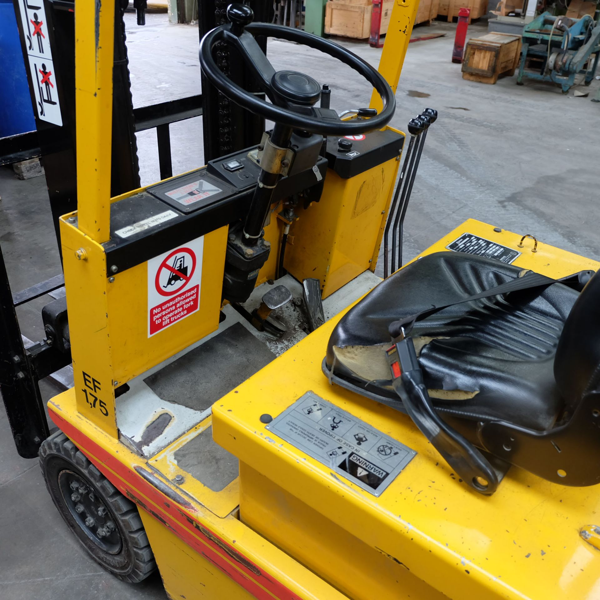 Kalmar Model EF 1.75. Electric Fork Lift Truck With Battery Charger - Image 3 of 10