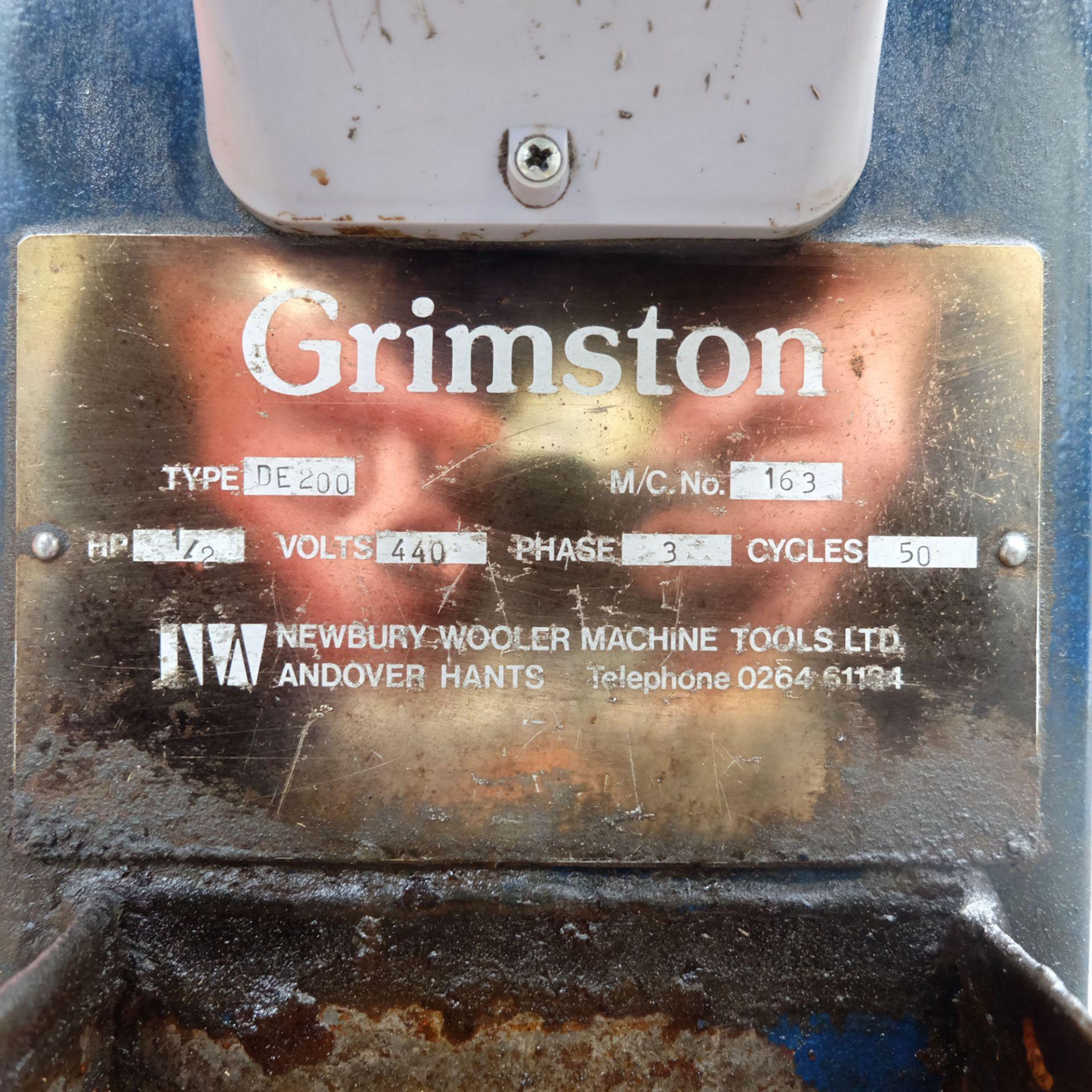Grimston Type DE 200. Double Ended Pedestal Grinder. Grinding Wheel Size 200mm. - Image 4 of 4