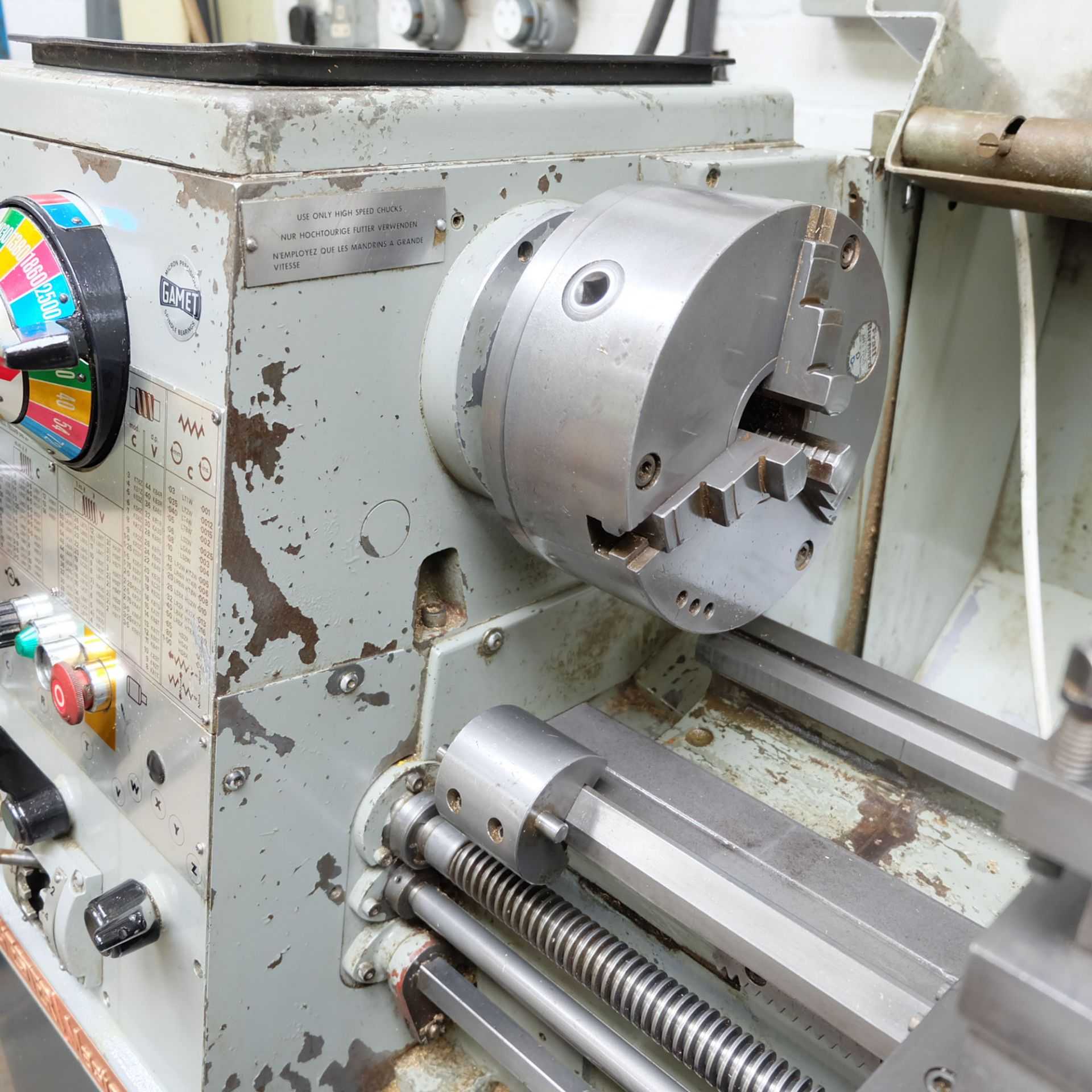 Colchester Master 2500 Gap Bed Centre Lathe. - Image 5 of 10