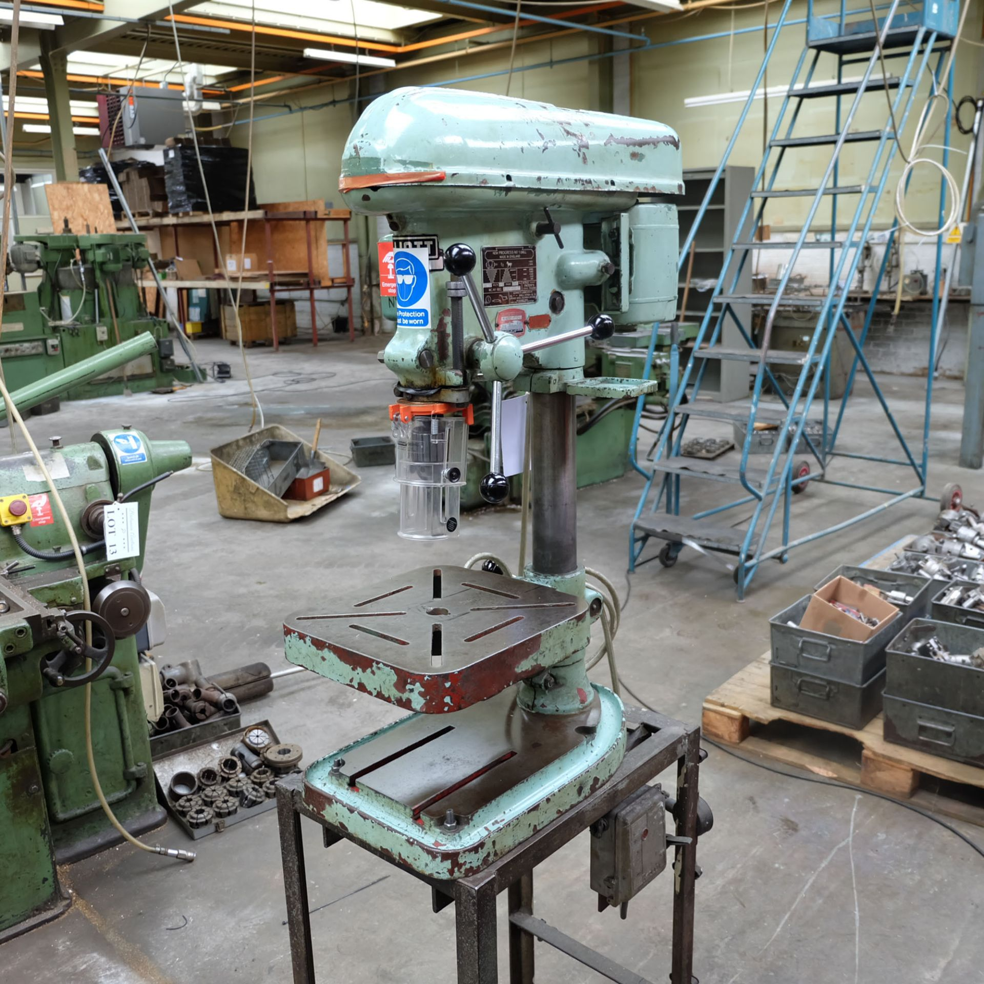 """Elliot Progress No.1 Bench Drill. 1/2"""" Drilling Capacity. Spindle Speeds: 340-2580rpm."""