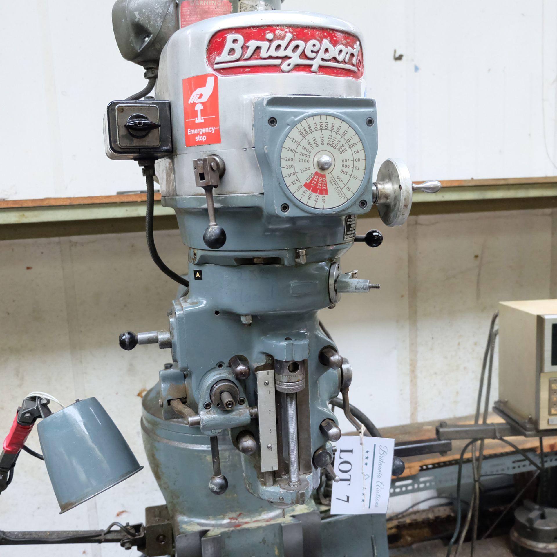 Bridgeport BR2J Variable Speed Head Turret Milling Machine. - Image 3 of 7