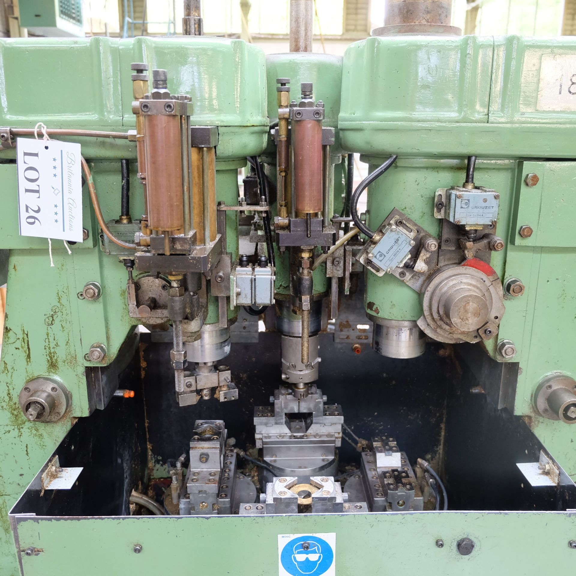 Sturino Model ST-71 Three Spindle Automatic Rotary Transfer Machine. Spindle Taper 30 Int. - Image 2 of 10