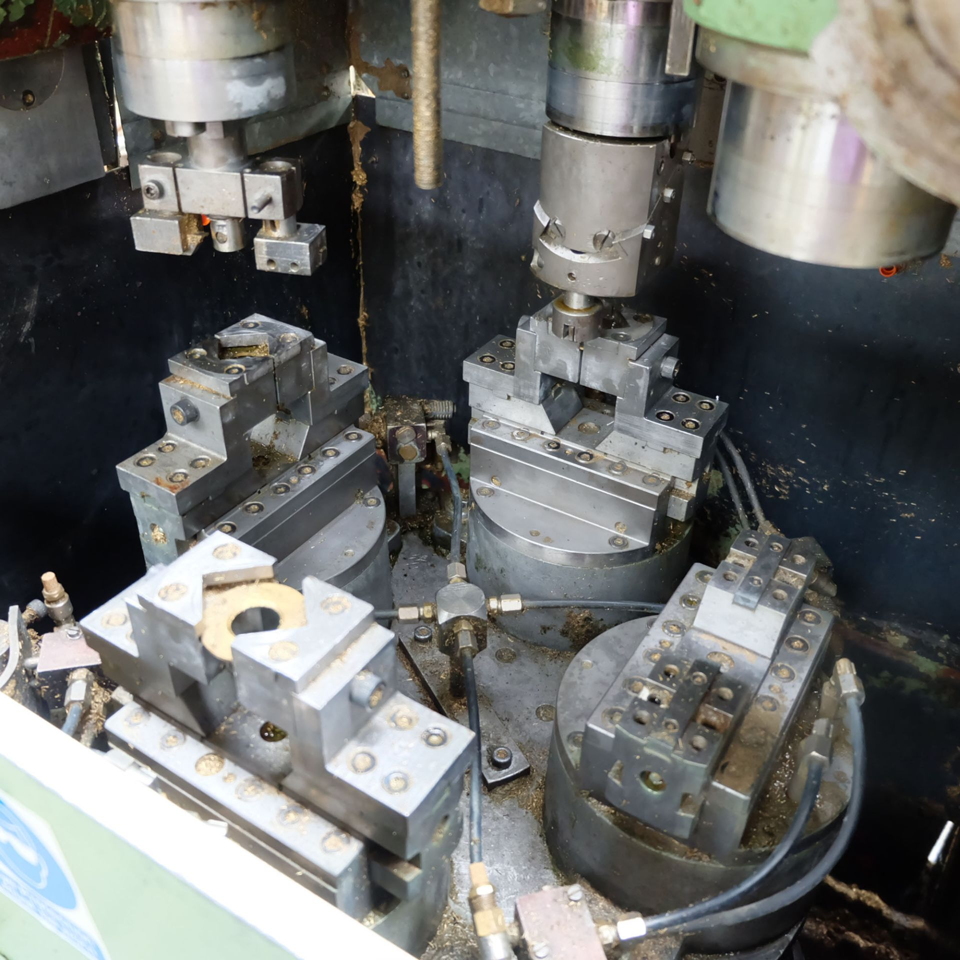 Sturino Model ST-71 Three Spindle Automatic Rotary Transfer Machine. Spindle Taper 30 Int. - Image 3 of 10