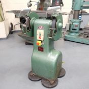 RJH Bison Double Ended Pedestal Tool Grinder. Wheel Size 300mm x 38mm x 35mm. Wheel Guards.
