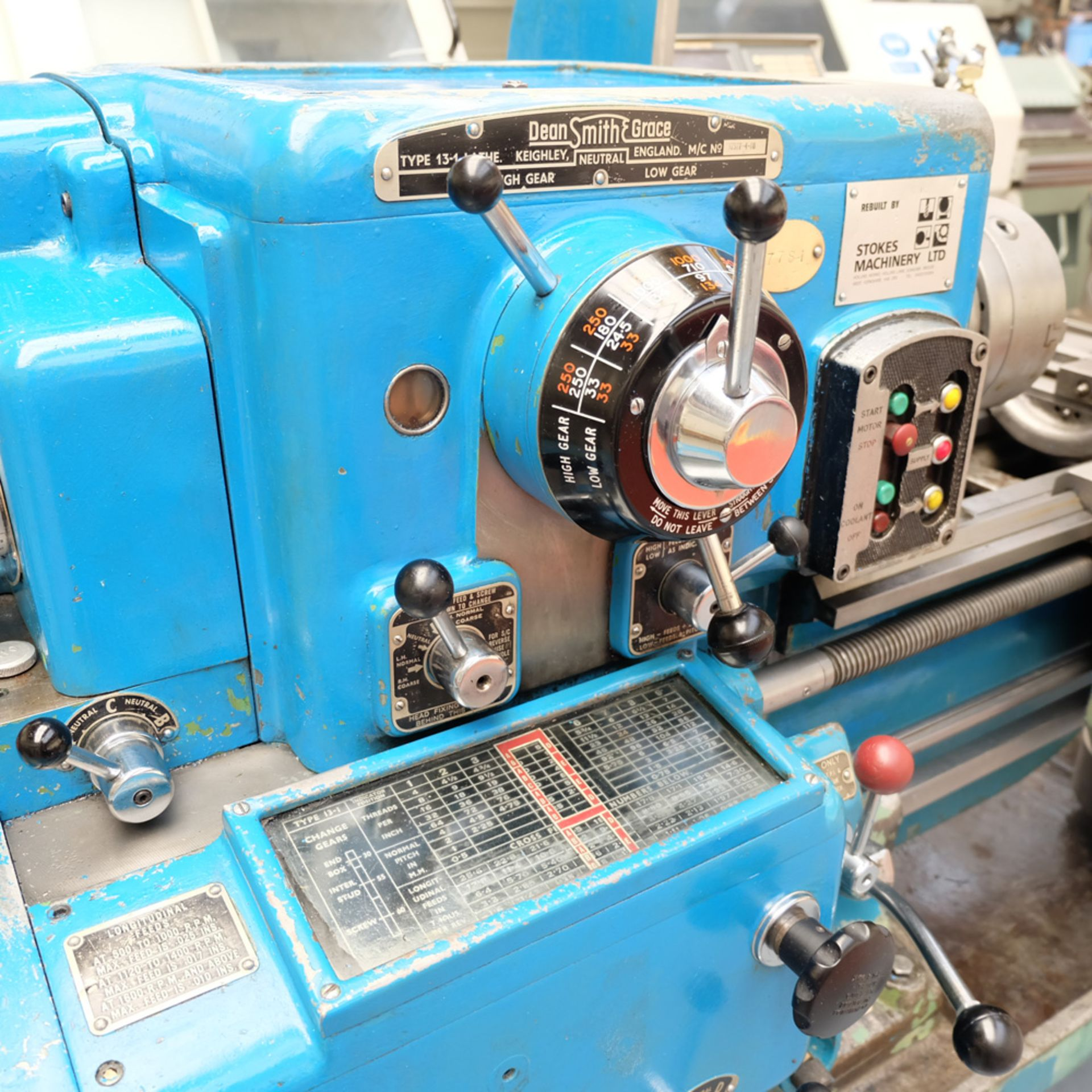 Dean Smith & Grace Type 13-1 Tool Room Centre Lathe. - Image 3 of 13