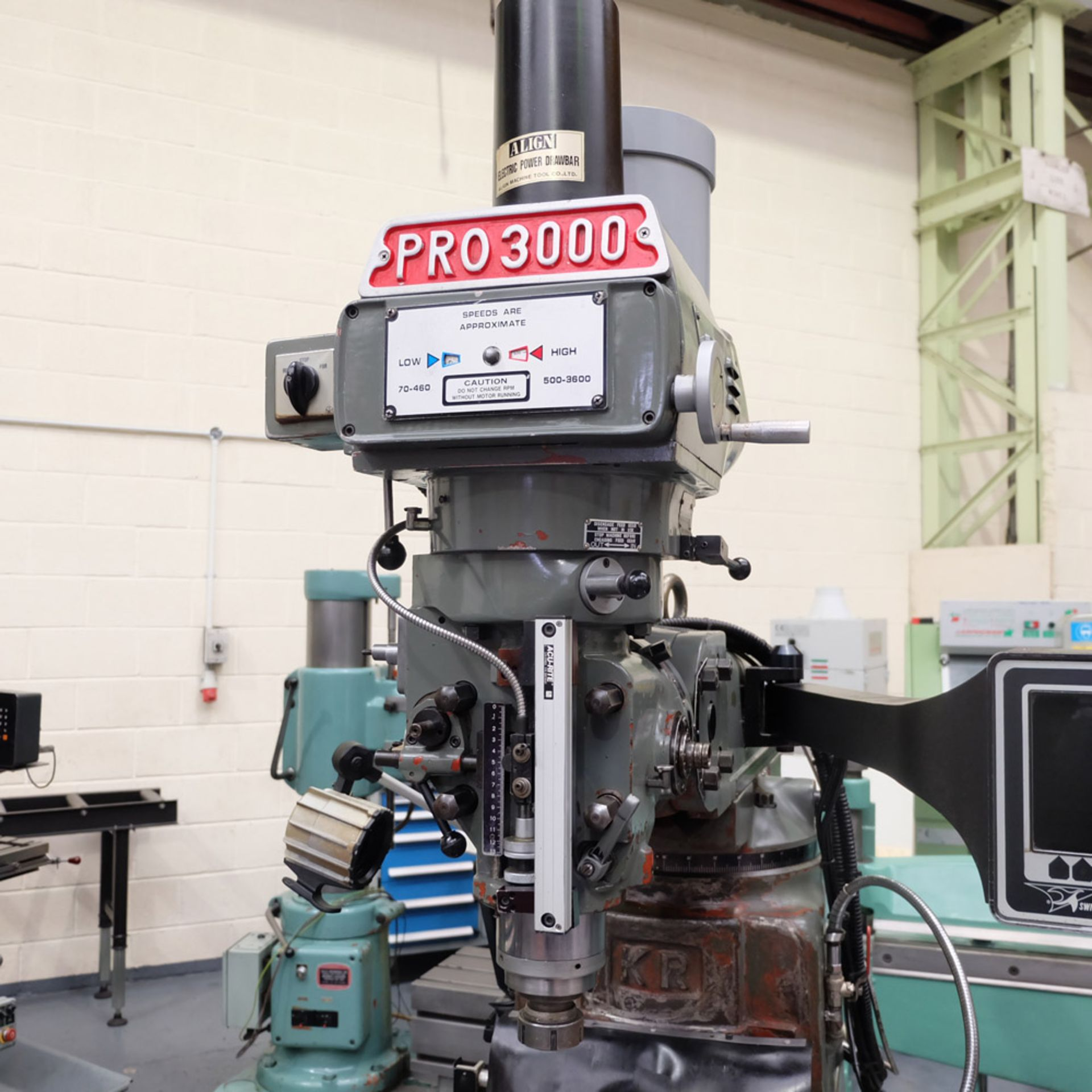 XYZ PRO 3000 Two Axis CNC Milling Machine.ProtoTrak MX2 Two Axis Programmable Control. - Image 3 of 9