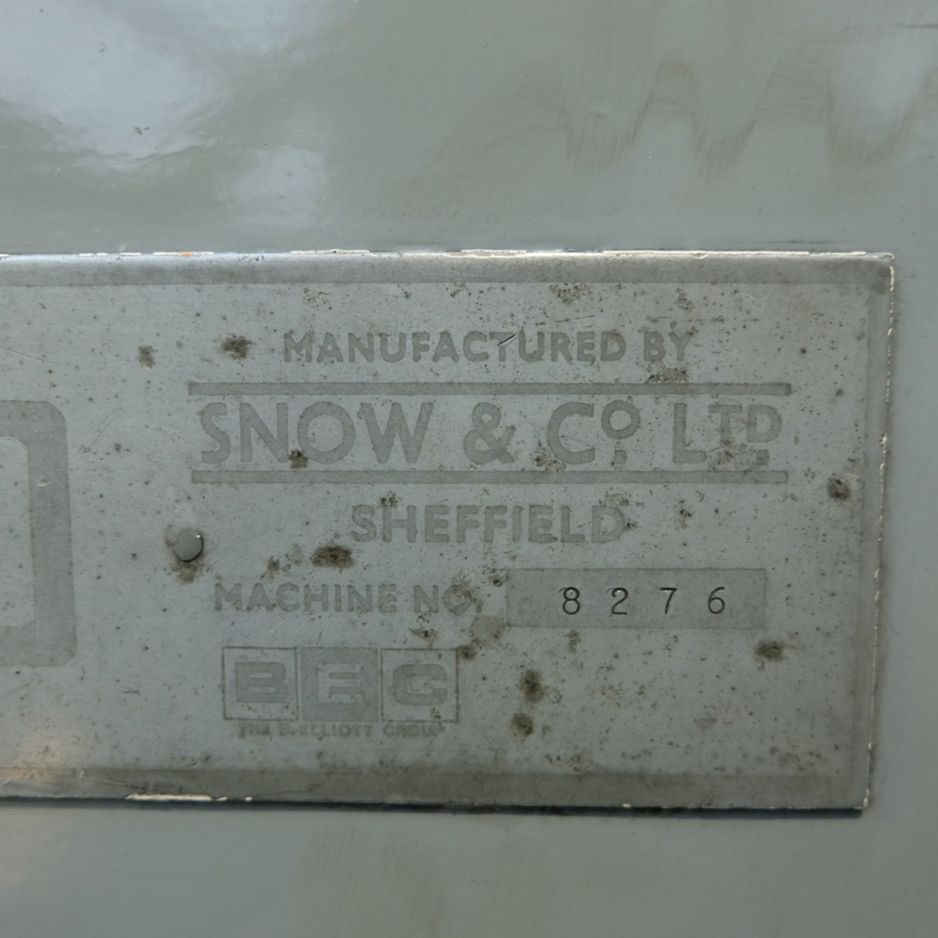 Snow Model RT 400 Ring Grinder. Table Size 400mm Diameter.Max Height Under Wheel 200mm. - Image 8 of 10