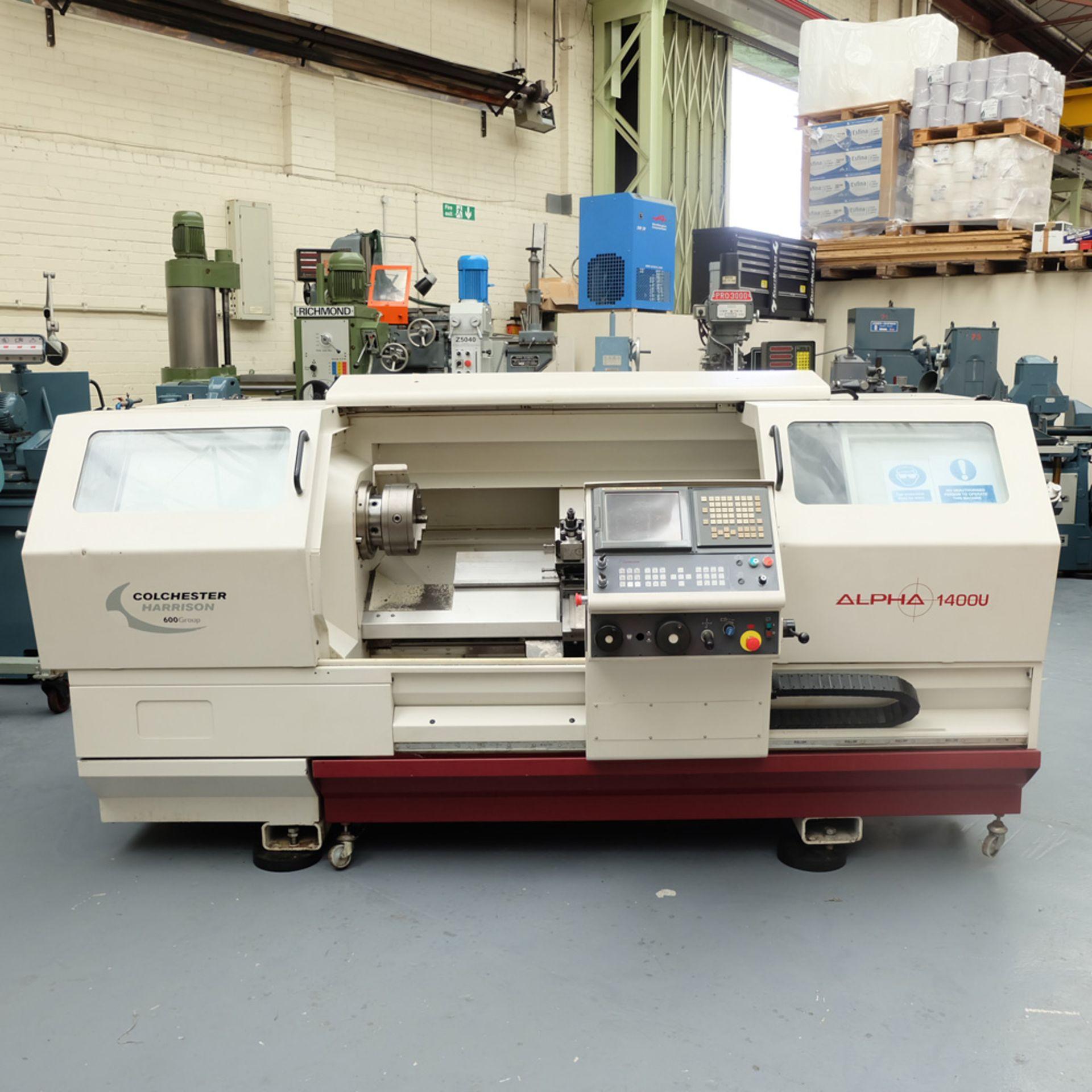 Harrison Alpha 1000 Series Model 1400U CNC Lathe.
