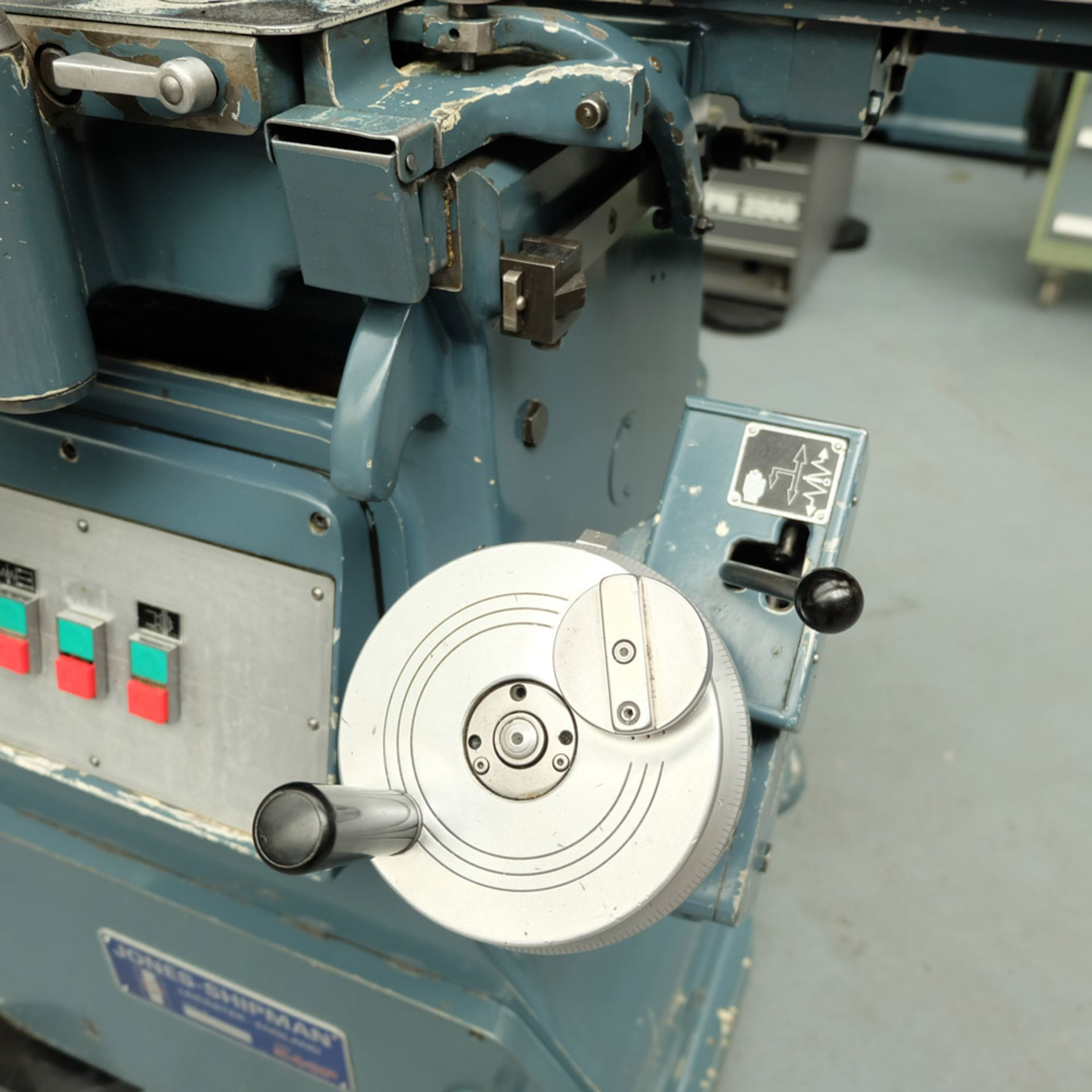 "Jones & Shipman Type 540P Tool Room Surface Grinder. Capacity 18"" x 6"". Imperial Dials. - Image 5 of 7"