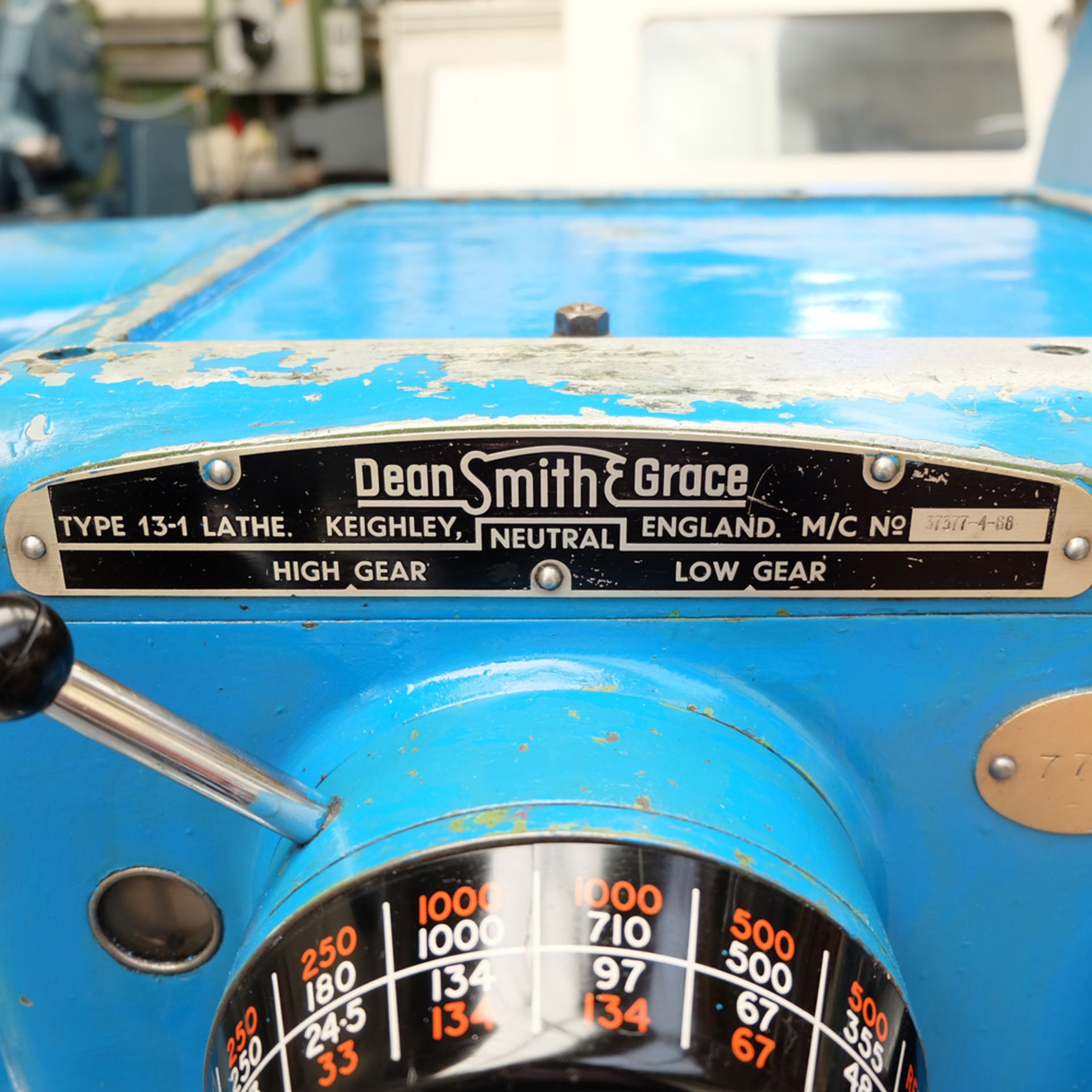 Dean Smith & Grace Type 13-1 Tool Room Centre Lathe. - Image 4 of 13