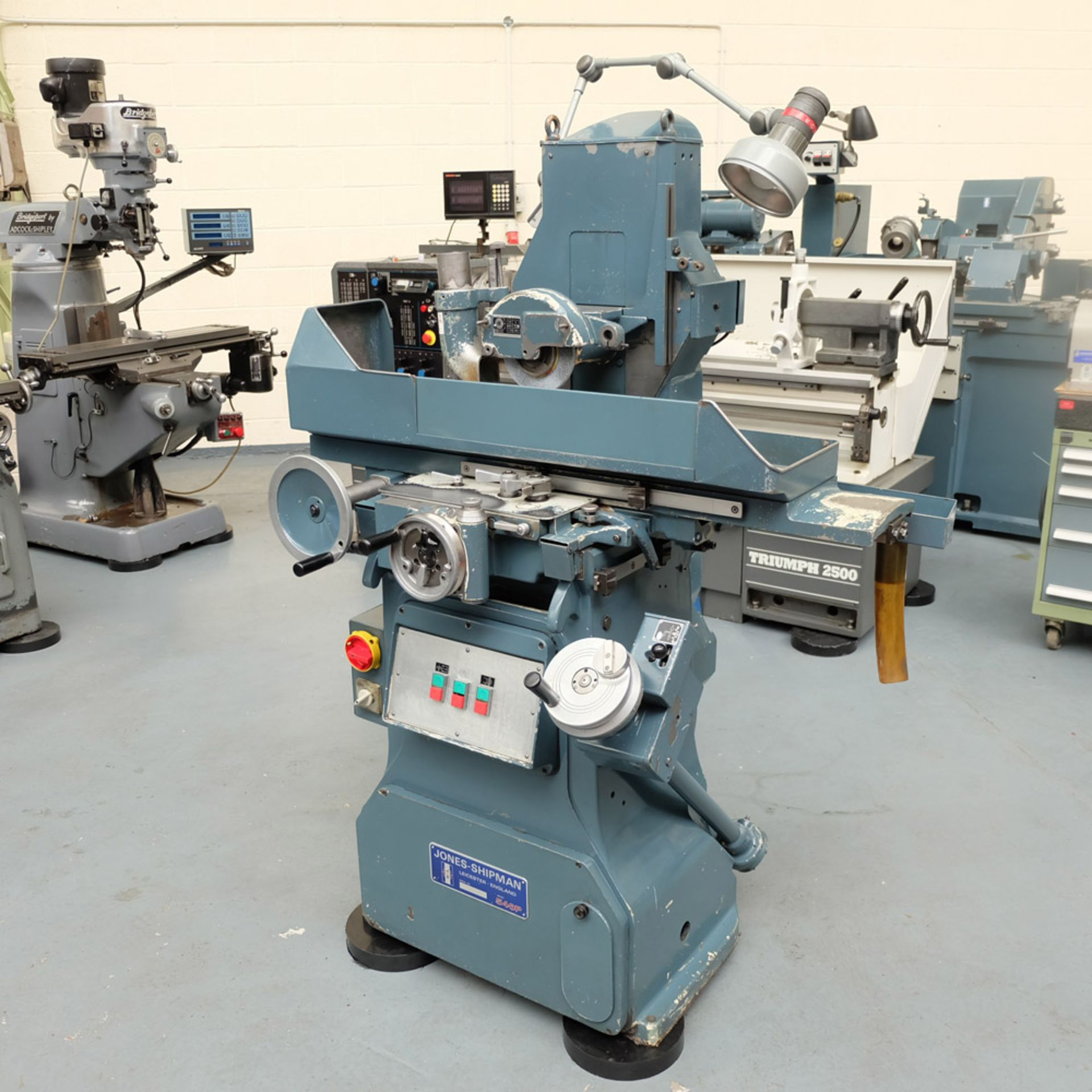 "Jones & Shipman Type 540P Tool Room Surface Grinder. Capacity 18"" x 6"". Imperial Dials. - Image 2 of 7"