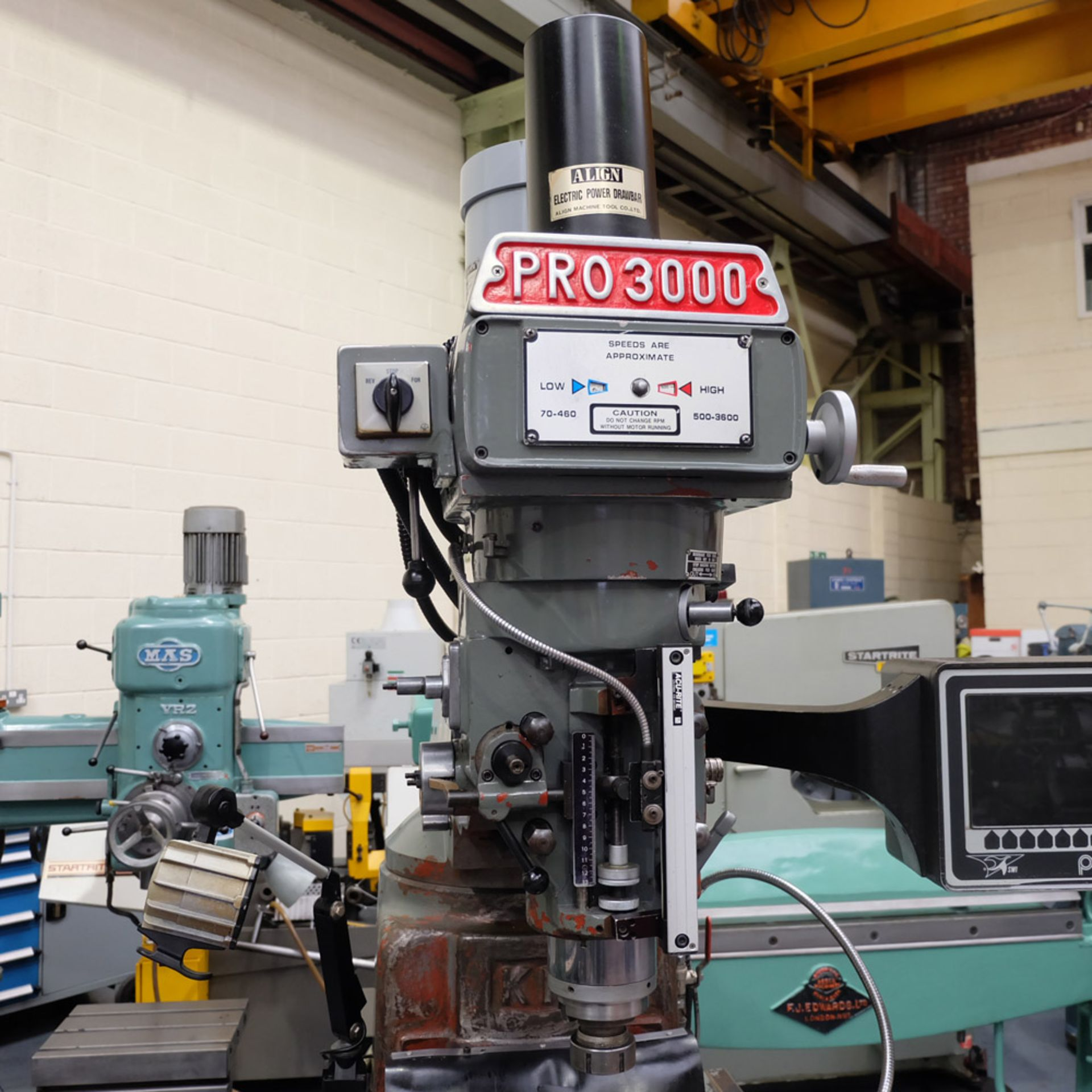 XYZ PRO 3000 Two Axis CNC Milling Machine.ProtoTrak MX2 Two Axis Programmable Control. - Image 2 of 9