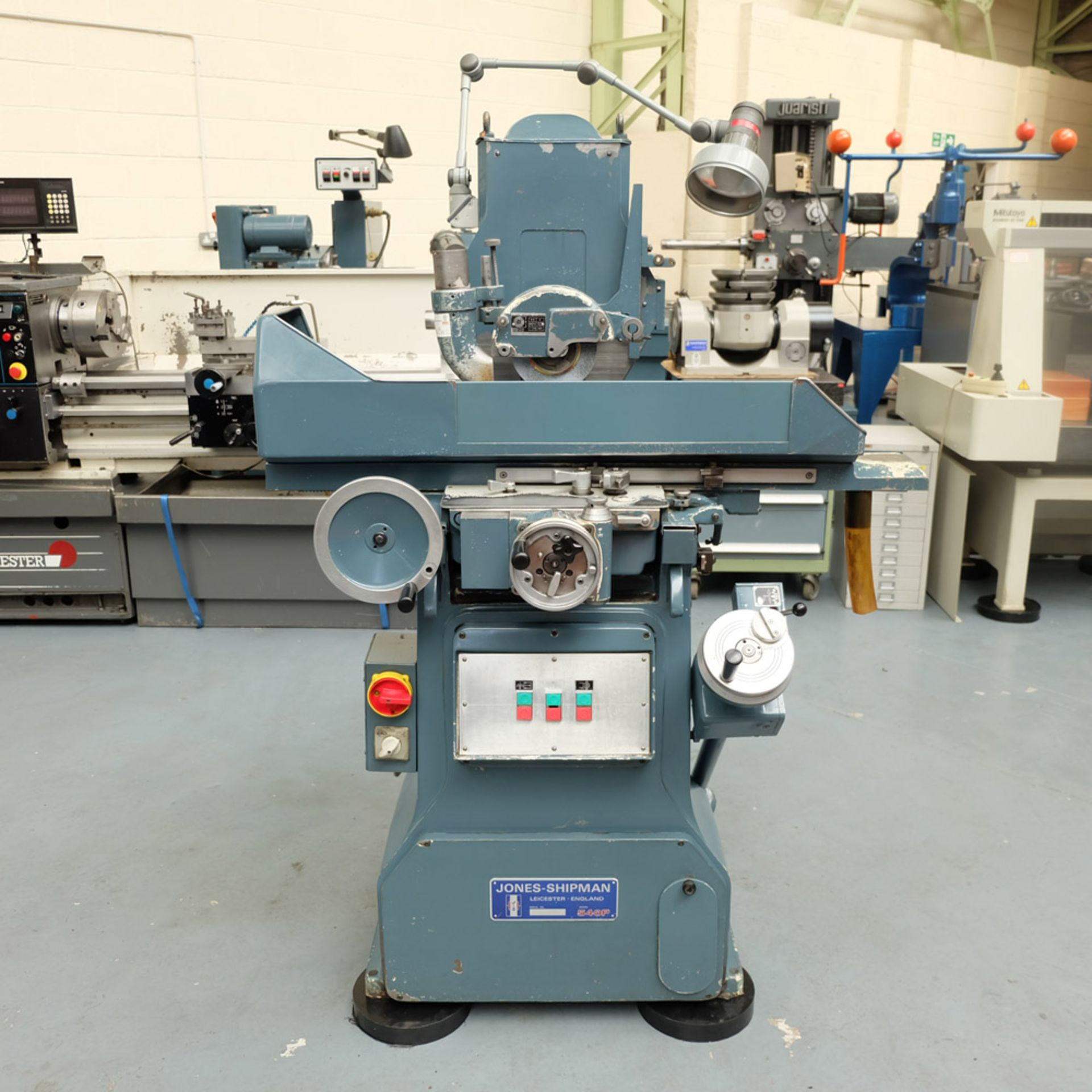 "Jones & Shipman Type 540P Tool Room Surface Grinder. Capacity 18"" x 6"". Imperial Dials."