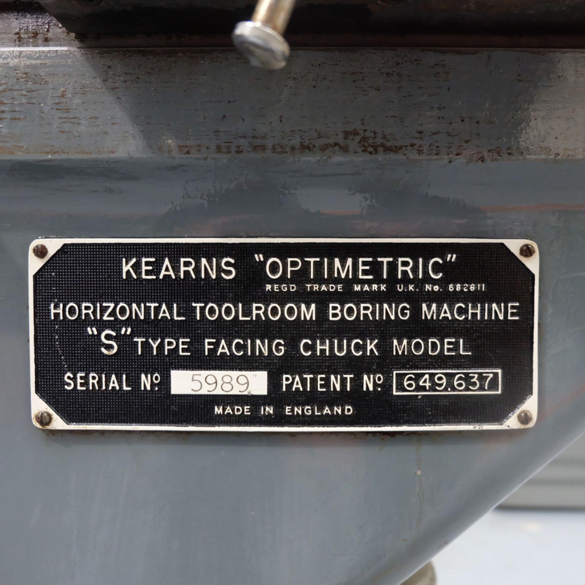 "Kearns S Type Facing Chuck Model Horizontal Boring Machine. Facing Chuck Capacity 8"". - Image 2 of 18"