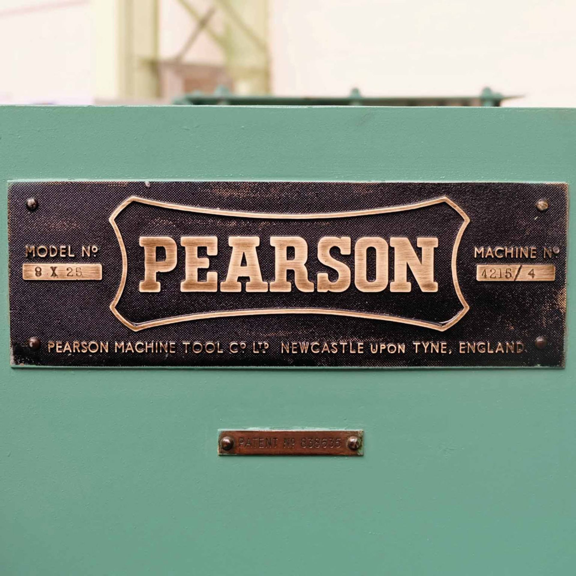 "Pearson Type 8 x 25 Hydraulic Power Guillotine. Capacity 1/4"" x 8'. Throat Depth 12"". - Image 7 of 7"