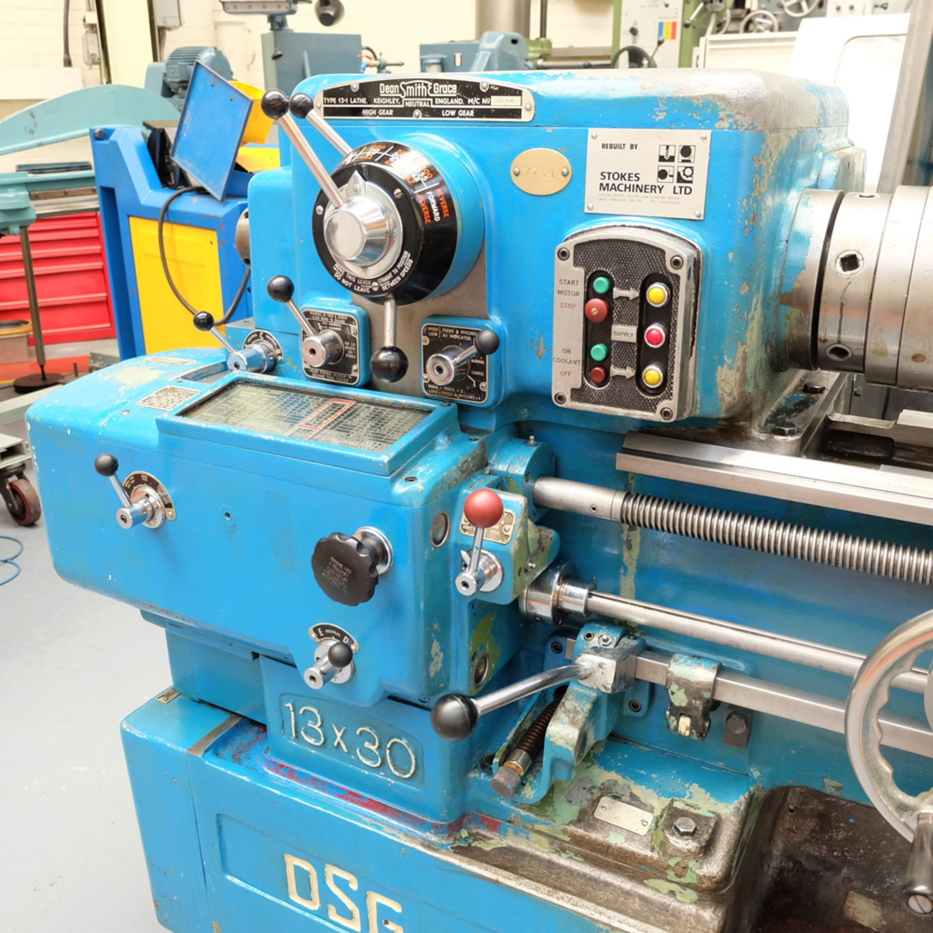 Dean Smith & Grace Type 13-1 Tool Room Centre Lathe. - Image 2 of 13